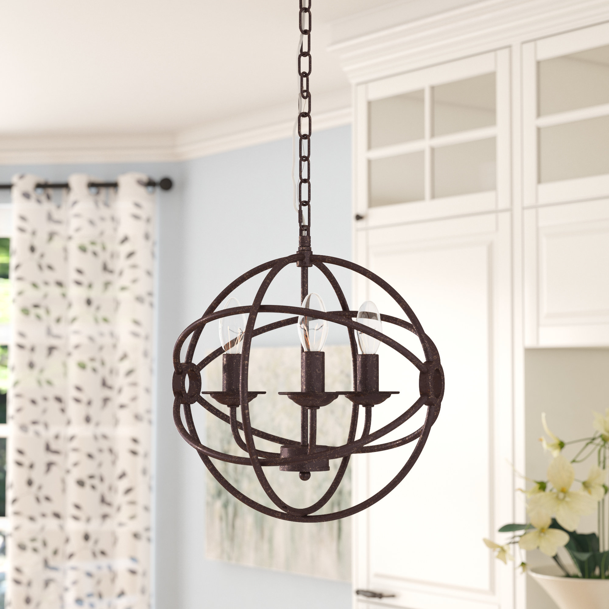 Well Liked Three Posts Shipststour 3 Light Globe Chandelier & Reviews Within La Sarre 3 Light Globe Chandeliers (View 3 of 25)