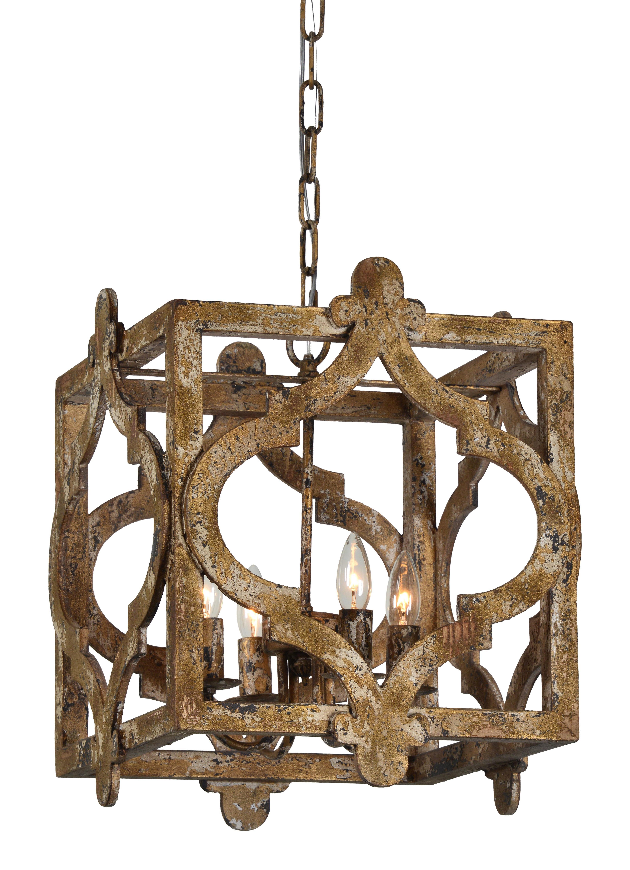 Whitney 4 Light Lantern Square Pendant Intended For Favorite Freeburg 4 Light Lantern Square / Rectangle Pendants (View 5 of 25)