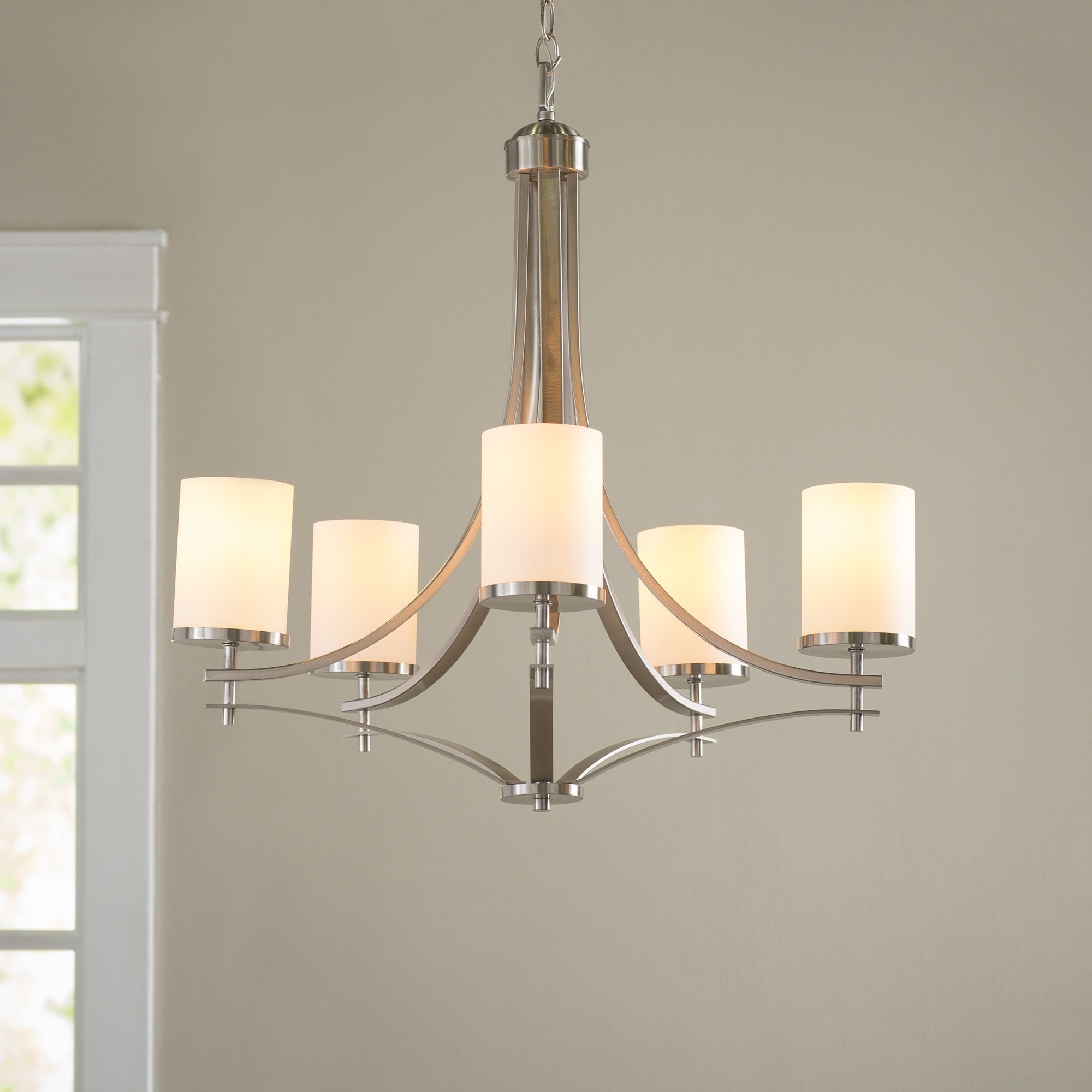 Widely Used Agnes 5 Light Shaded Chandelier Regarding Suki 5 Light Shaded Chandeliers (View 7 of 25)
