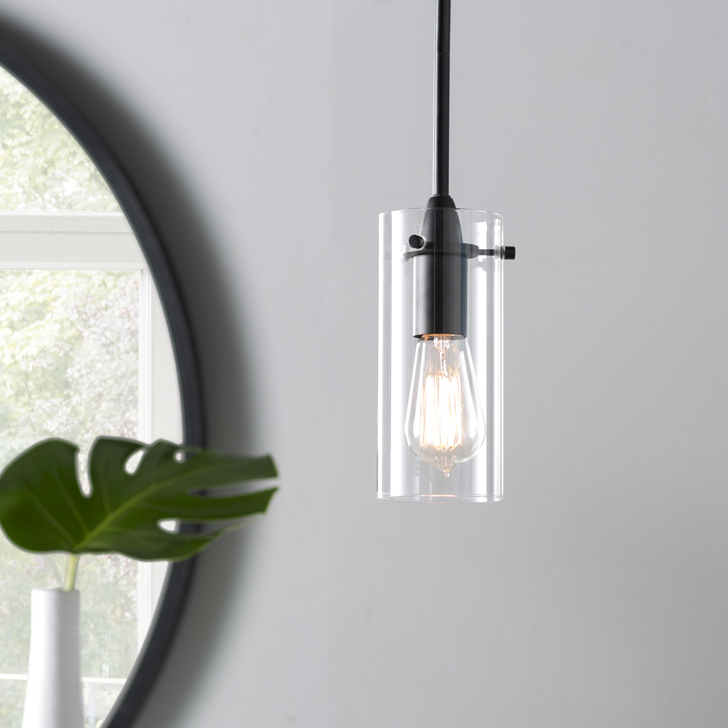Widely Used Angelina 1 Light Single Cylinder Pendants Intended For Ivy Bronx Angelina 1 Light Single Cylinder Pendant & Reviews (View 25 of 25)