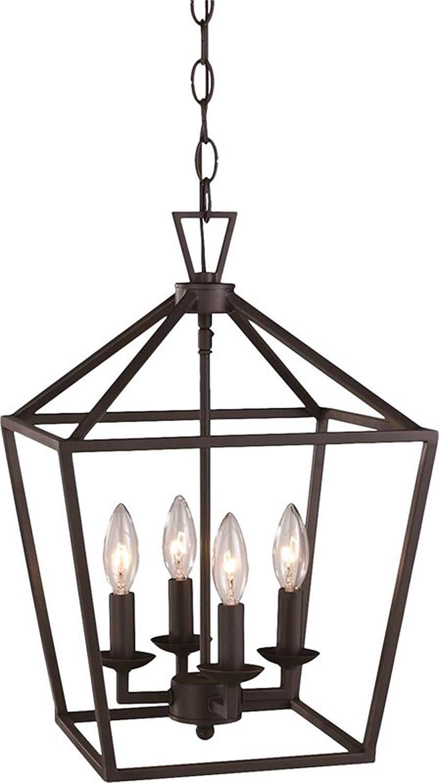 Widely Used Carmen 8 Light Lantern Geometric Pendants For Amazon: 4 Light Lantern Pendant – Contemporary Ceiling (View 24 of 25)