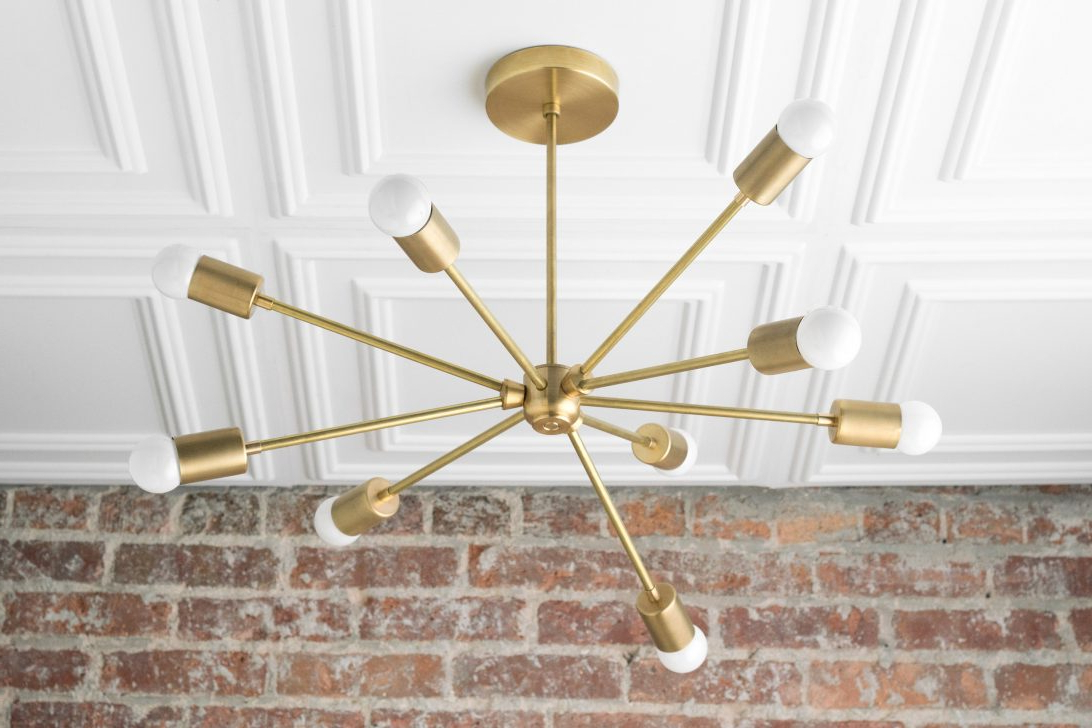Widely Used Closet Light Fixtures Lowes West Elm Lighting Sale Wall Lamp Intended For Eladia 6 Light Sputnik Chandeliers (View 24 of 25)