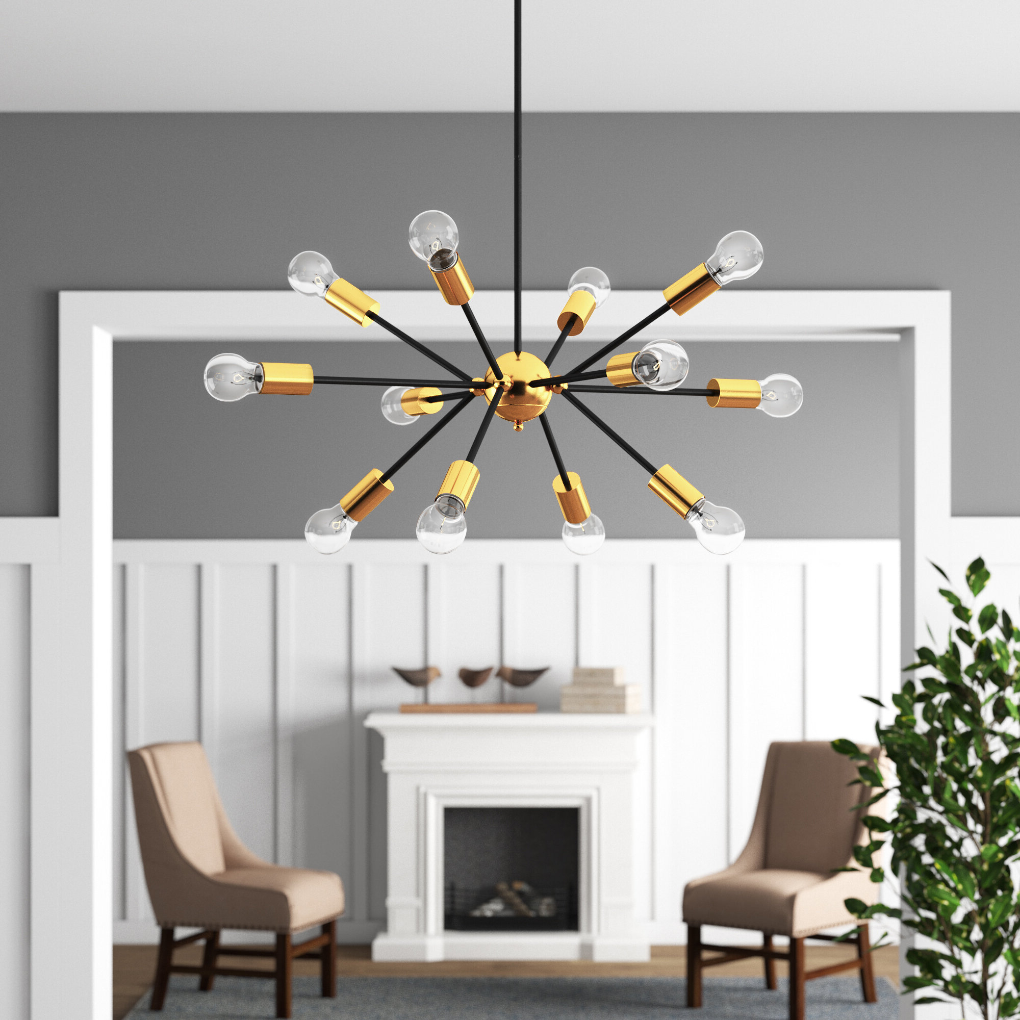 Widely Used Corona 12 Light Sputnik Chandeliers Throughout Dorcia 12 Light Sputnik Chandelier (View 10 of 25)