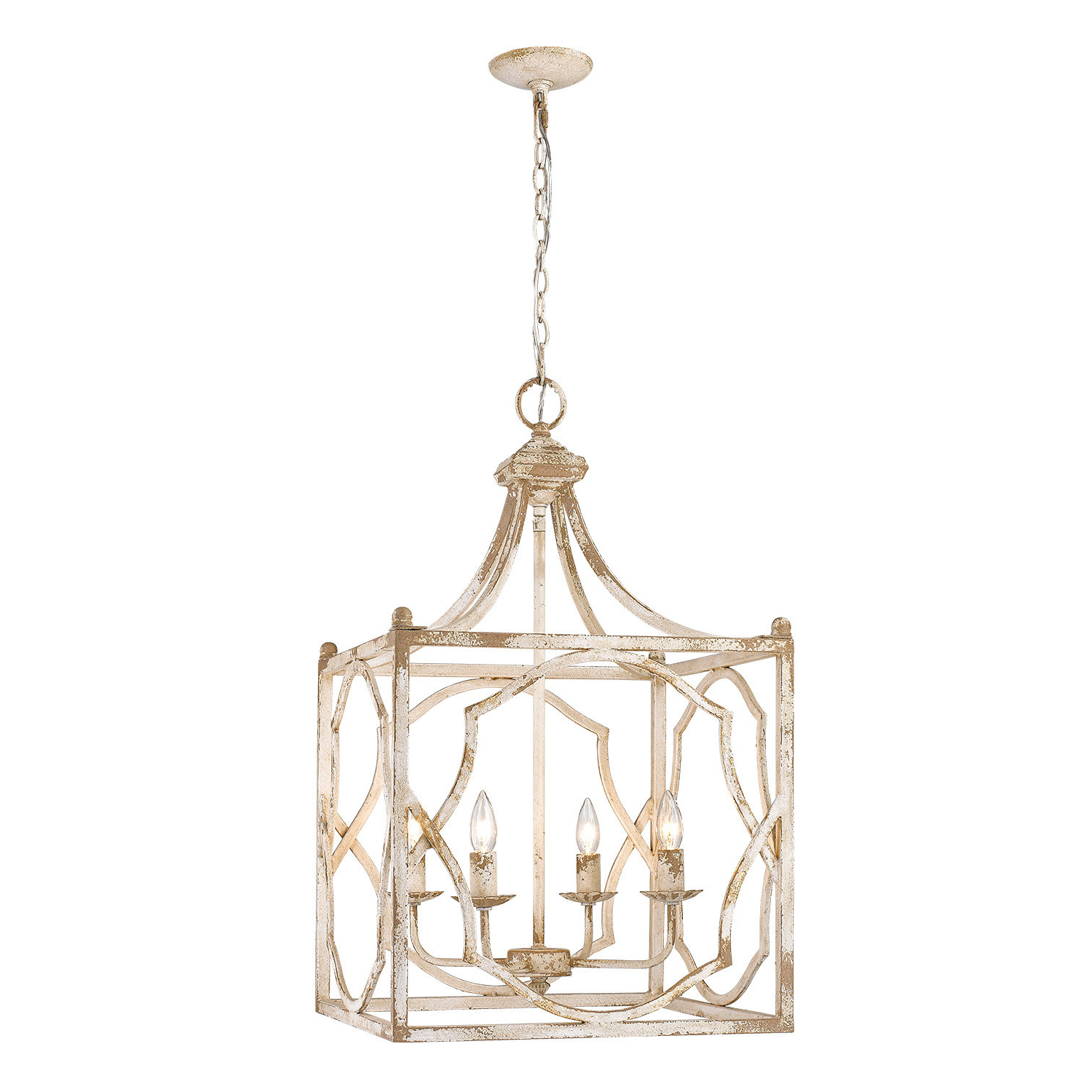 Widely Used Destrey 3 Light Lantern Square/rectangle Pendants Throughout Jayne 4 Light Square Pendant (View 19 of 25)