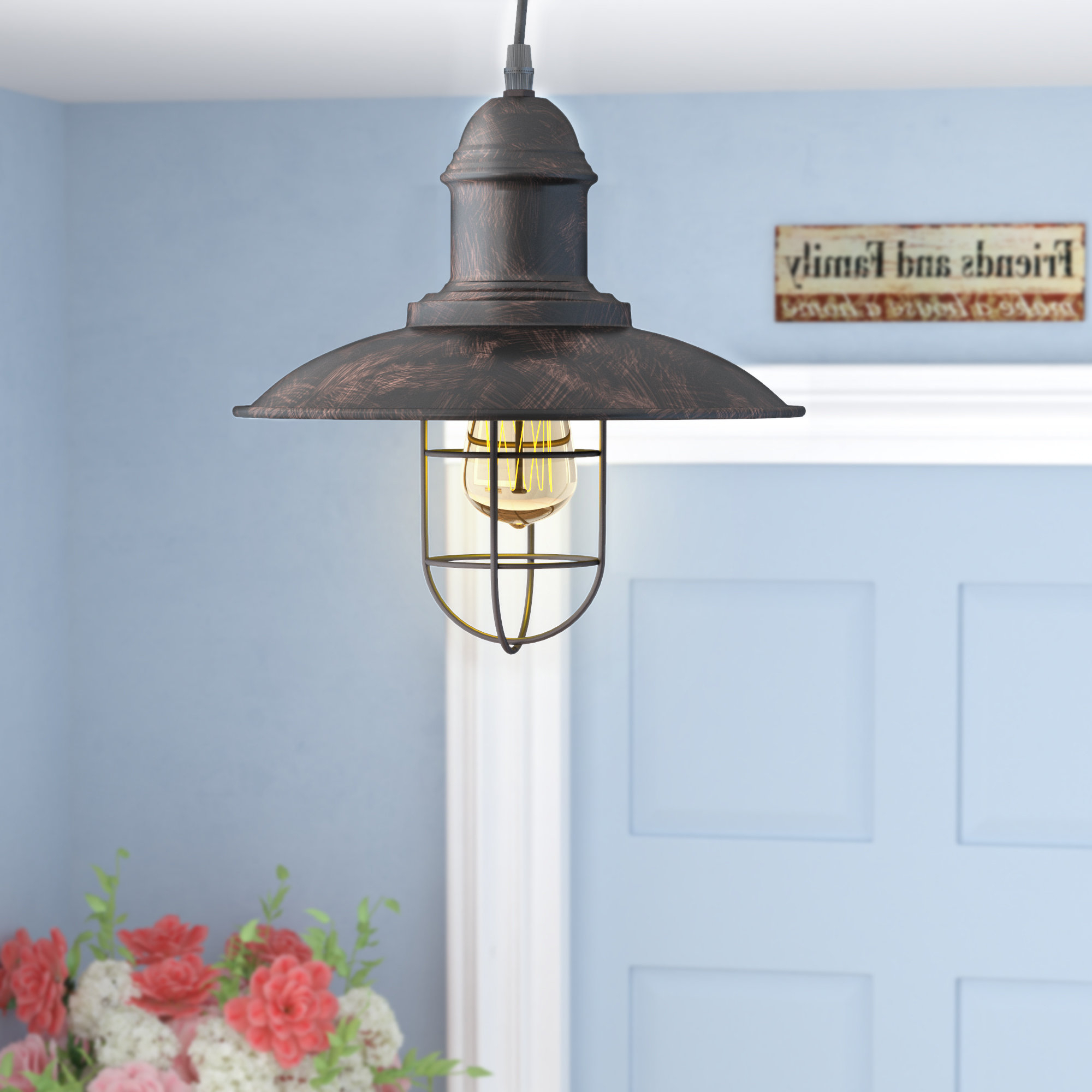 Widely Used Finnick 1 Light Geometric Pendants With Ethel 1 Light Cone Pendant (View 23 of 25)