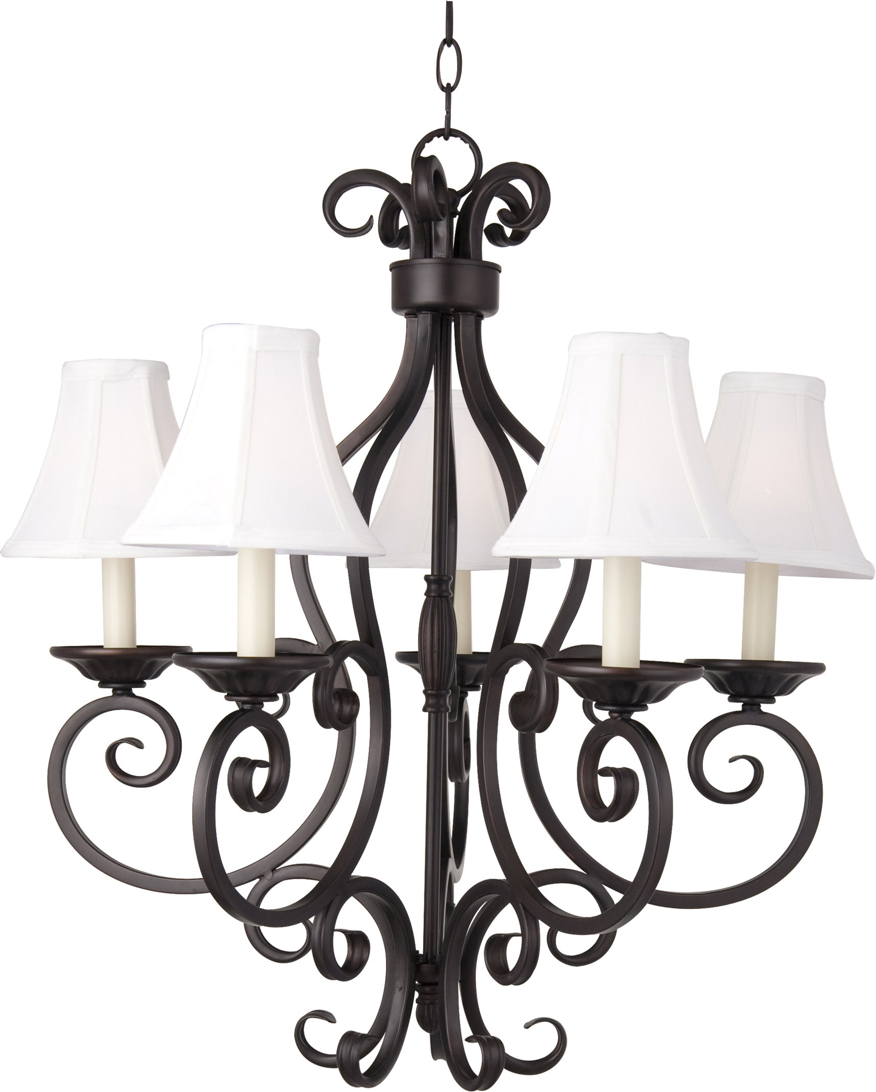 Widely Used Gaines 5 Light Shaded Chandeliers Pertaining To Anella 5 Light Shaded Chandelier (View 25 of 25)