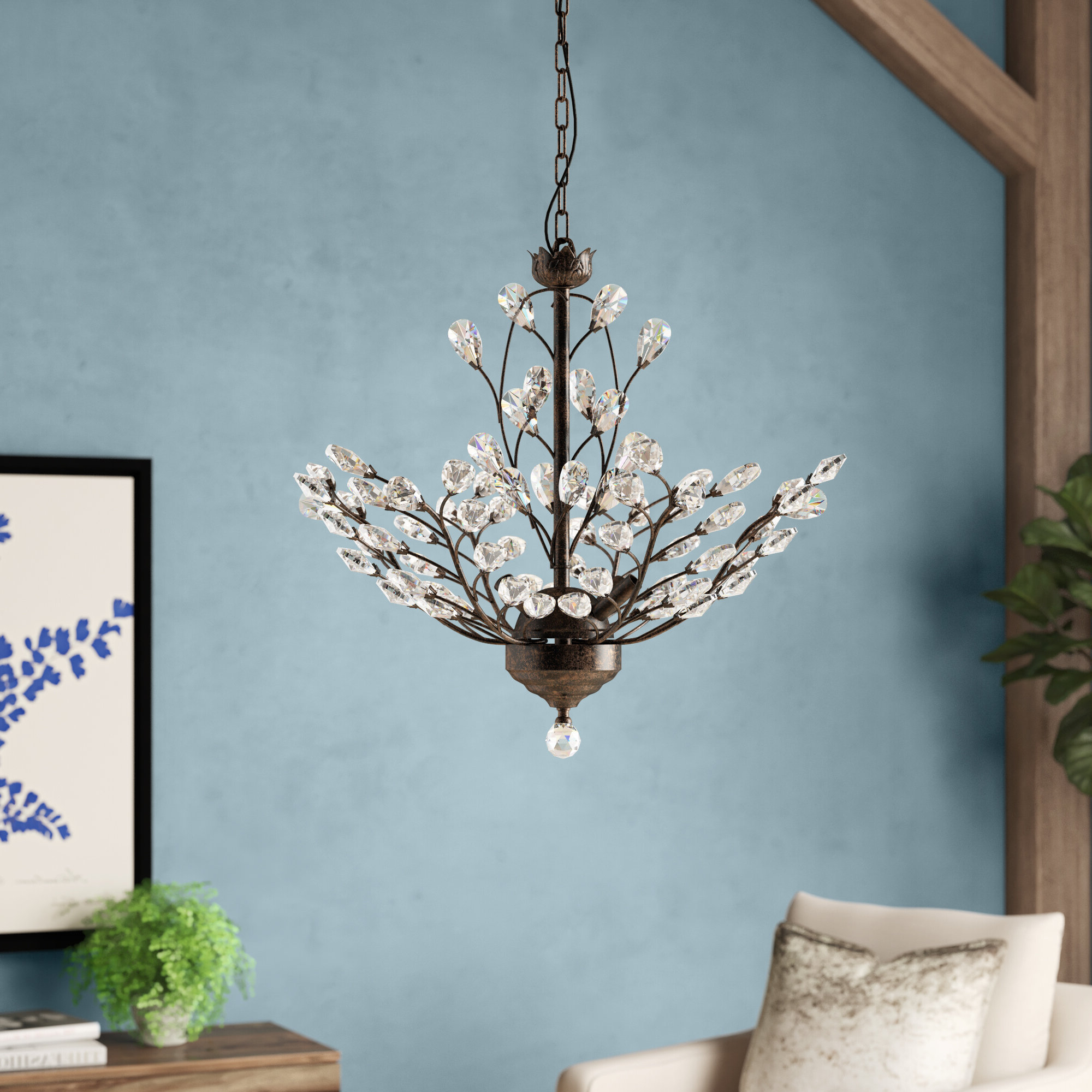 Widely Used Hesse 5 Light Candle Style Chandeliers In Alijah 4 Light Led Candle Style Chandelier (View 17 of 25)