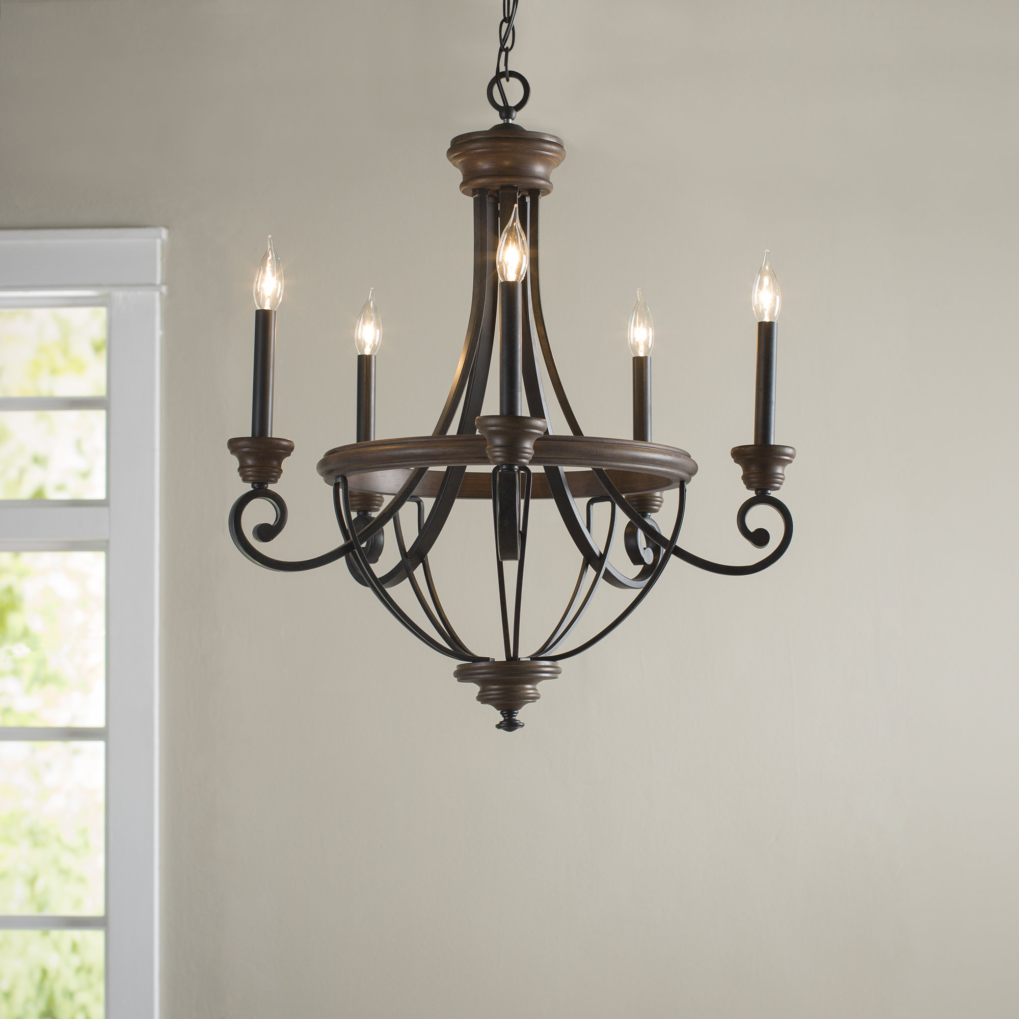 Widely Used Kenna 5 Light Empire Chandeliers Inside Laurel Foundry Modern Farmhouse Nanteuil 5 Light Empire Chandelier (View 11 of 25)
