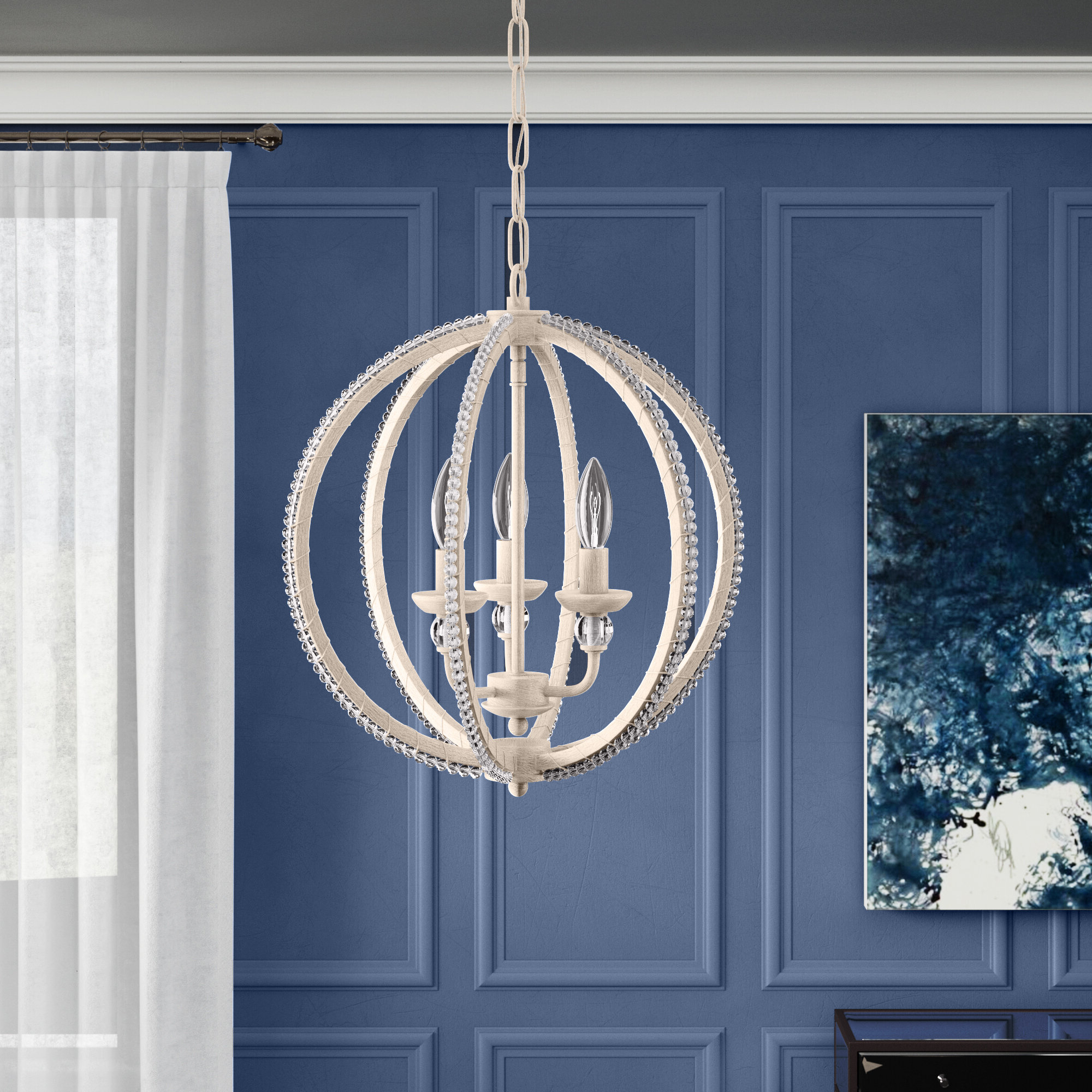 Widely Used La Barge 3 Light Globe Chandeliers Inside Clarice 3 Light Globe Chandelier (View 16 of 25)