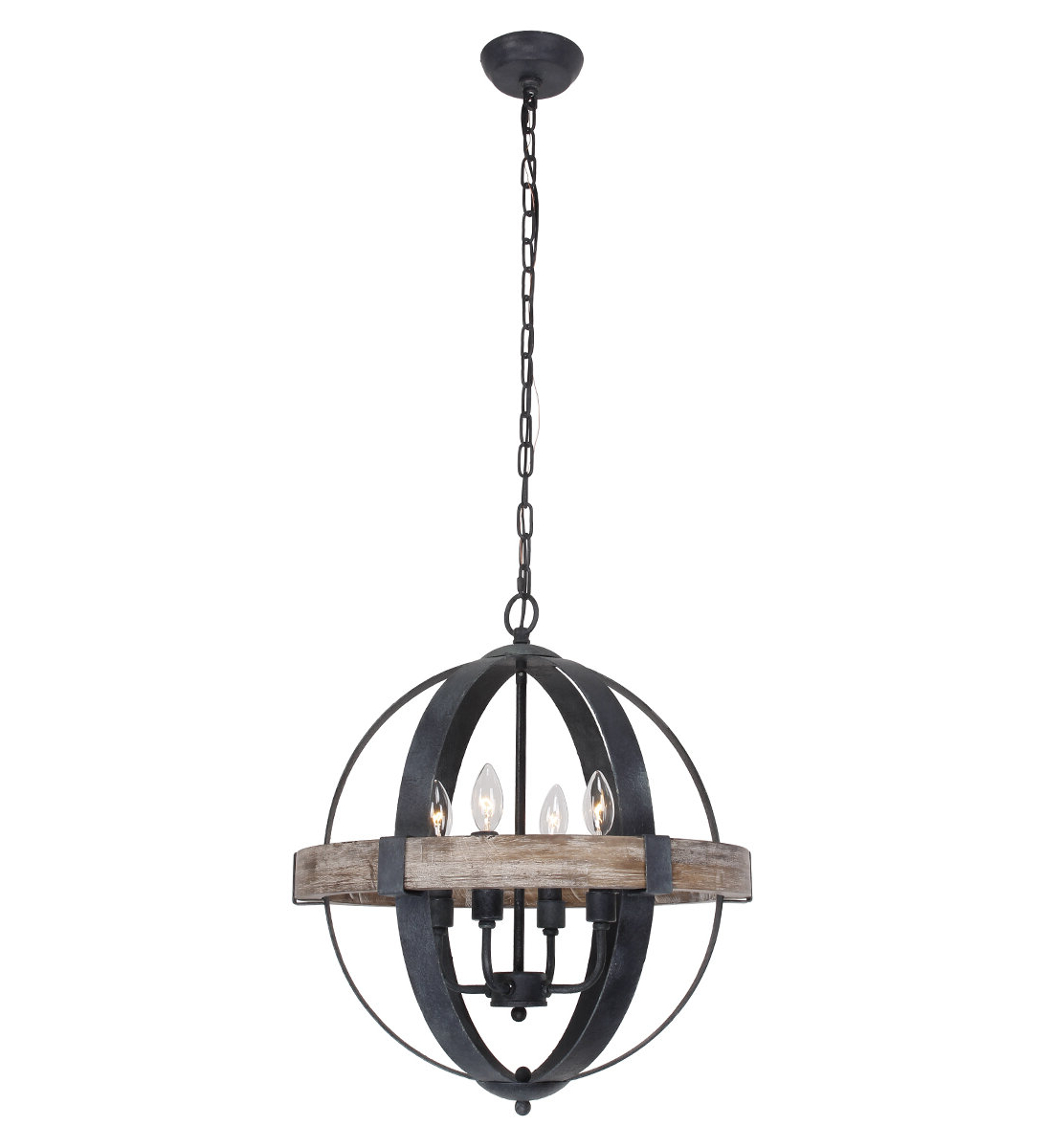 Widely Used La Sarre 3 Light Globe Chandeliers With Hillsboro 4 Light Globe Chandelier (View 21 of 25)