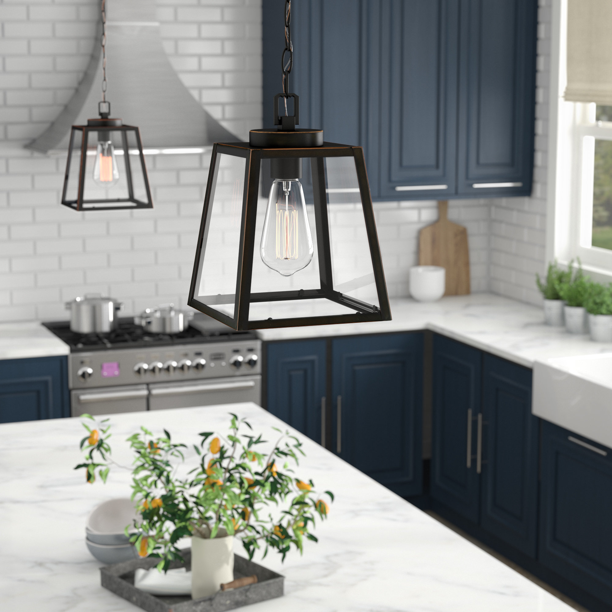 Widely Used Louanne 1 Light Lantern Geometric Pendants Within Louanne 1 Light Lantern Pendant (View 4 of 25)