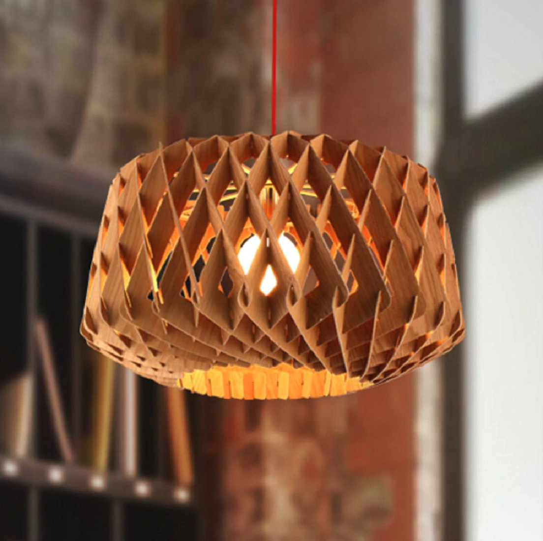 Widely Used Melora 1 Light Single Geometric Pendants Inside Calfee Wooden 1 Light Geometric Pendant (View 24 of 25)