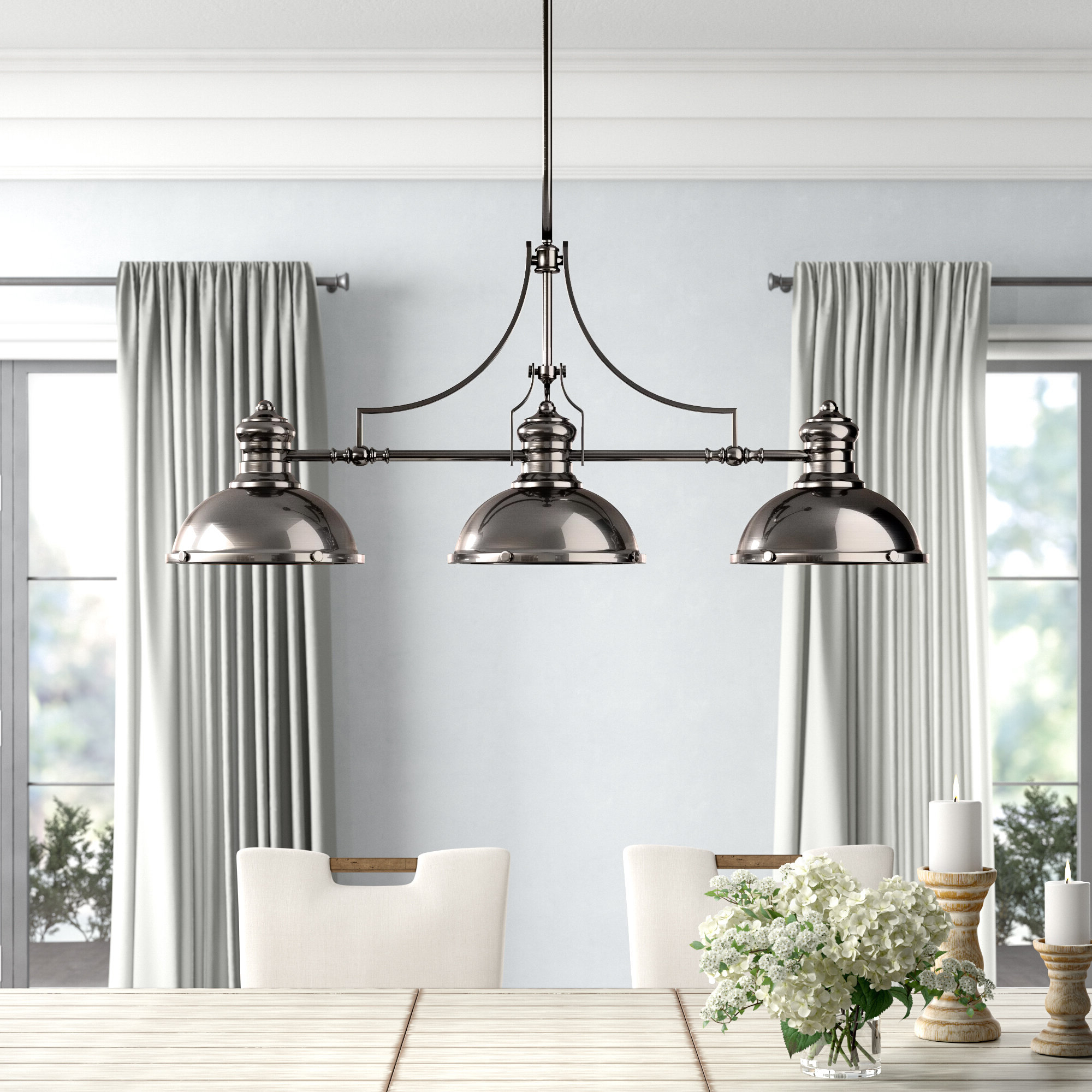 Widely Used Priston 3 Light Kitchen Island Linear Pendant With Regard To Fredela 3 Light Kitchen Island Pendants (View 23 of 25)