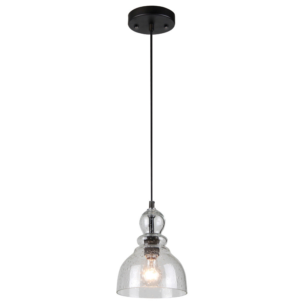 Widely Used Scruggs 1 Light Geometric Pendants Throughout Modern Glass Seeded Pendant Lighting (View 25 of 25)