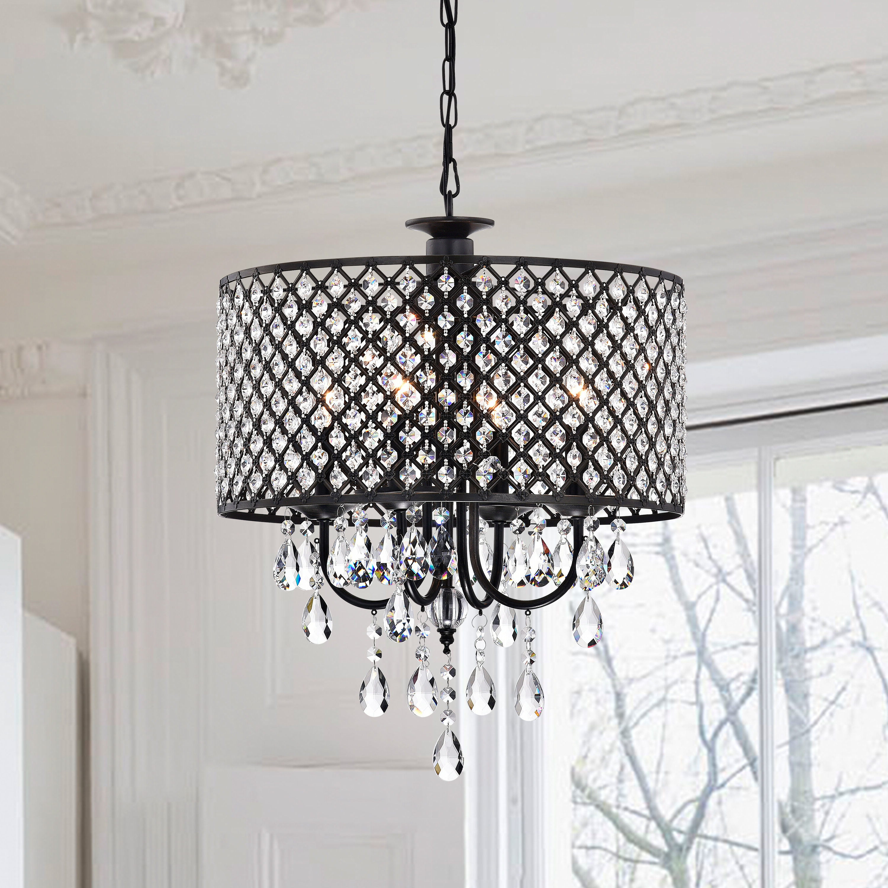 Widely Used Sinead 4 Light Chandeliers Inside Gisselle 4 Light Drum Chandelier (View 24 of 25)