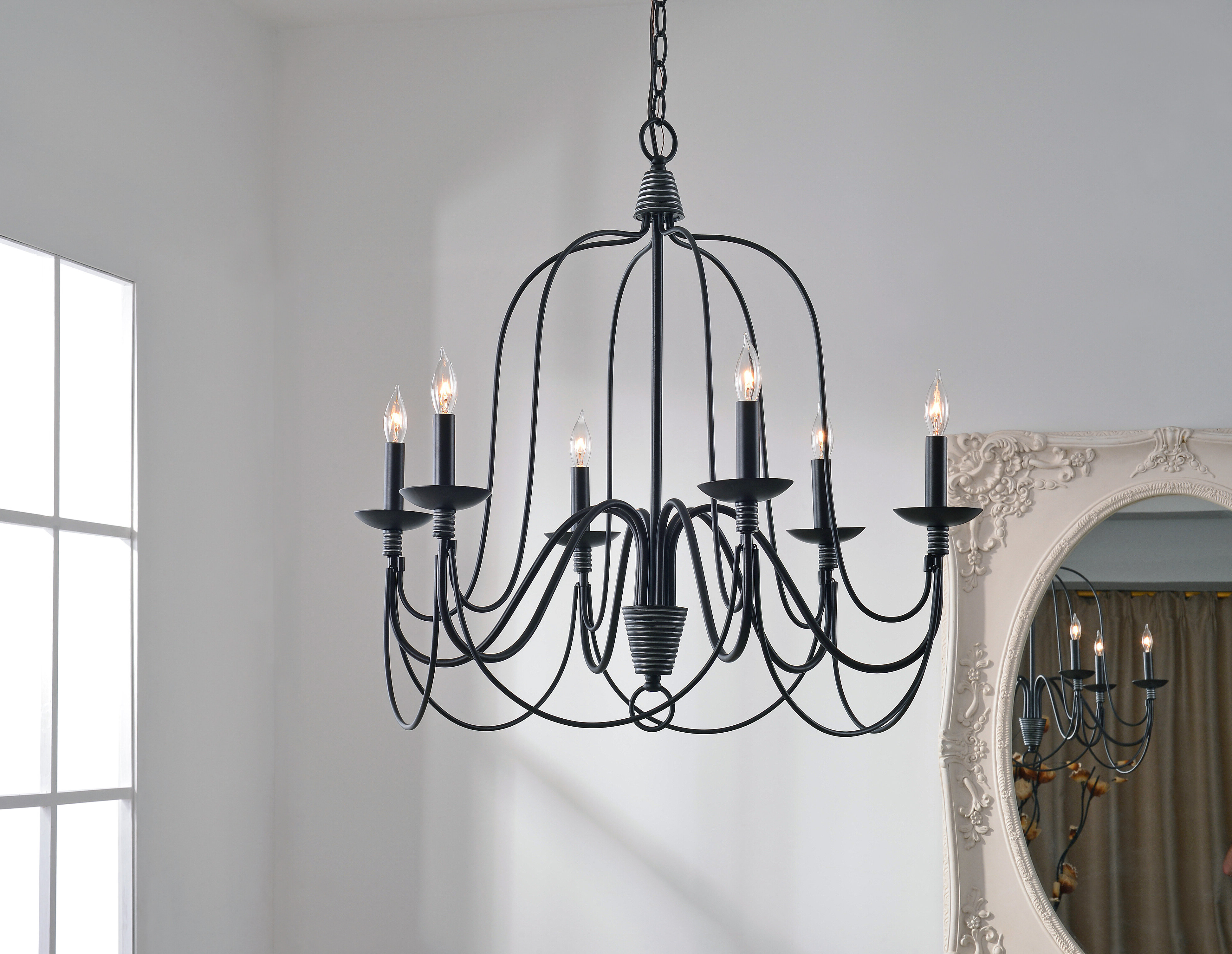 Widely Used Watford 6 Light Candle Style Chandelier Pertaining To Bennington 6 Light Candle Style Chandeliers (View 3 of 25)