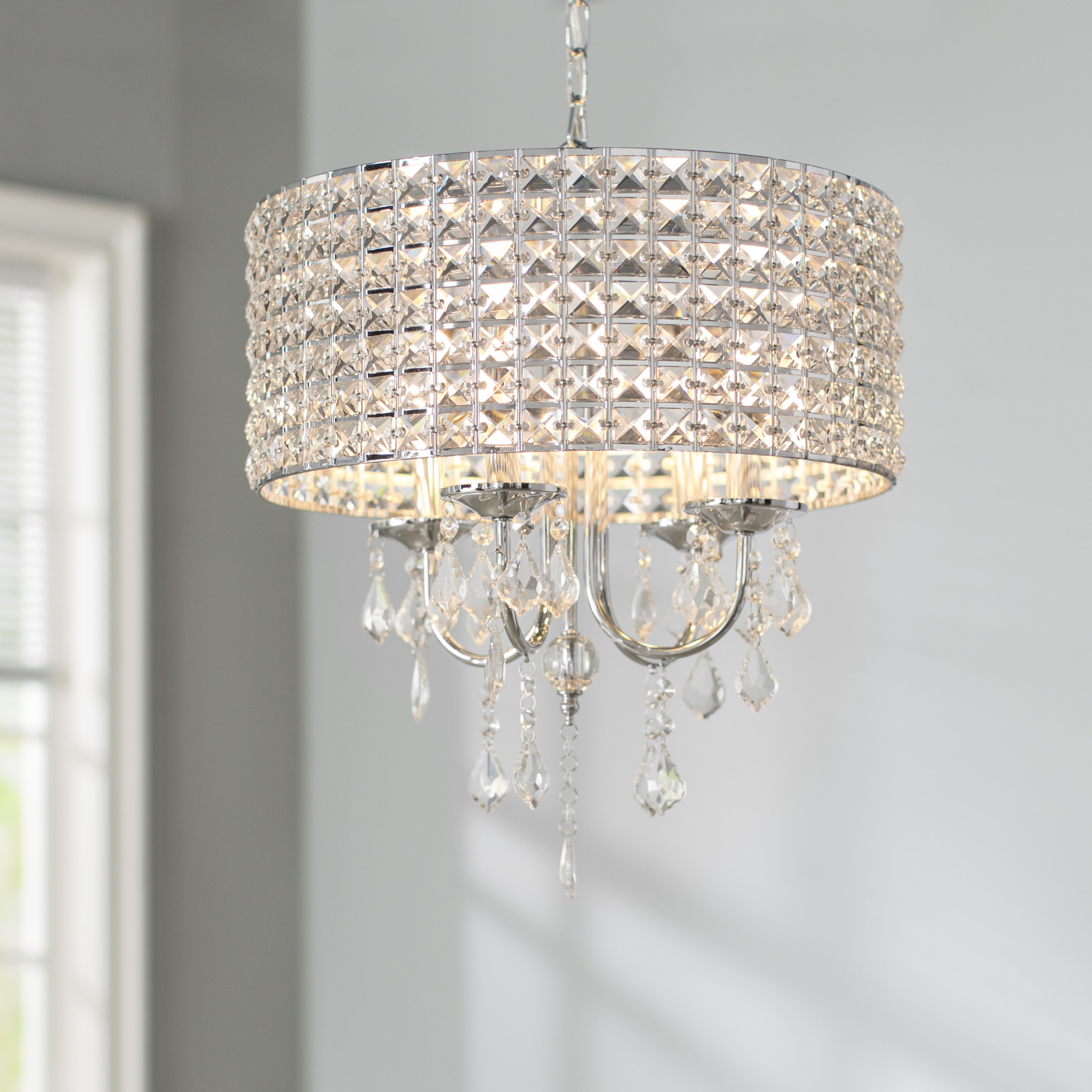 Widely Used Willa Arlo Interiors Albano 4 Light Crystal Chandelier In Albano 4 Light Crystal Chandeliers (View 5 of 25)