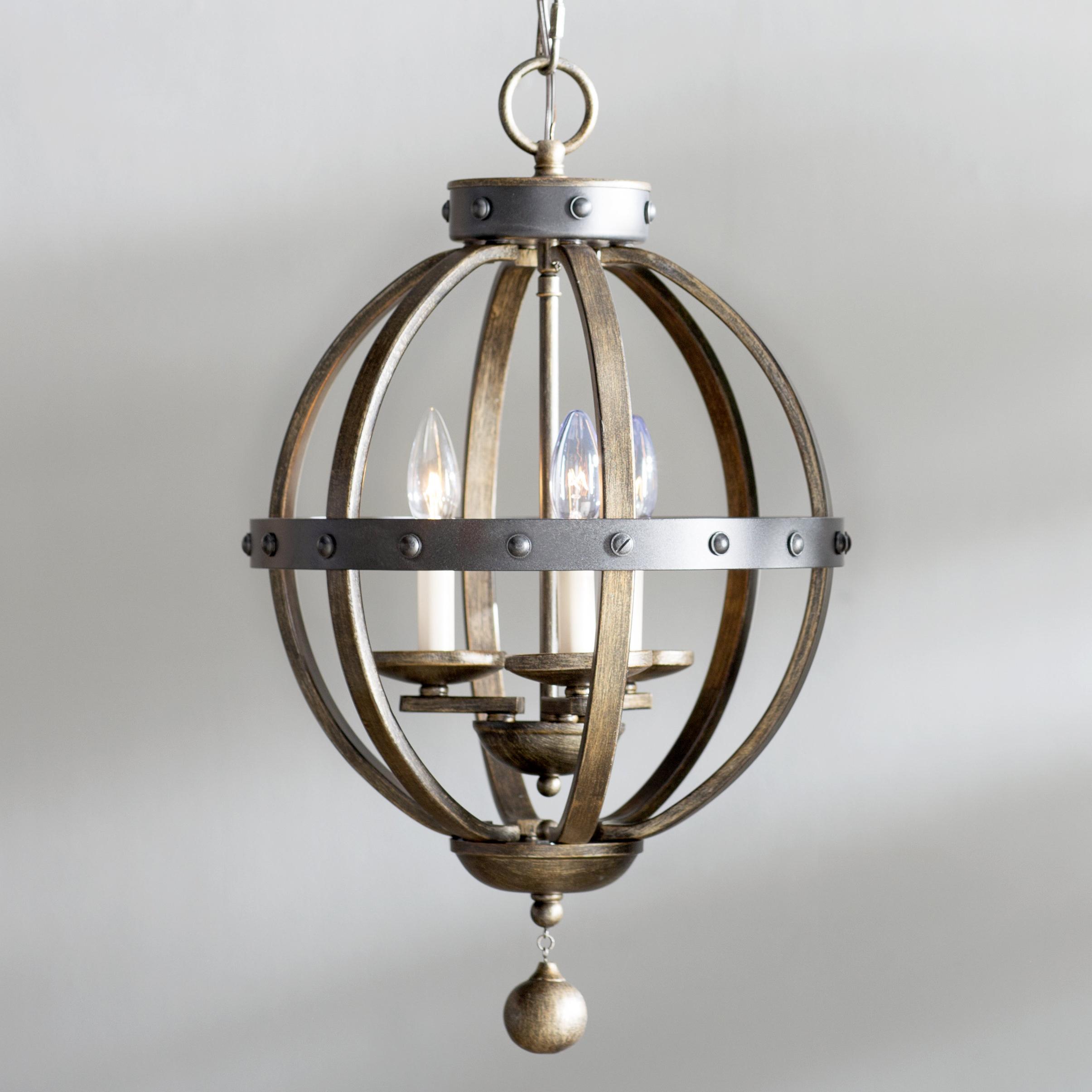 Wilburton 3 Light Globe Chandelier With Regard To Current La Sarre 3 Light Globe Chandeliers (View 7 of 25)