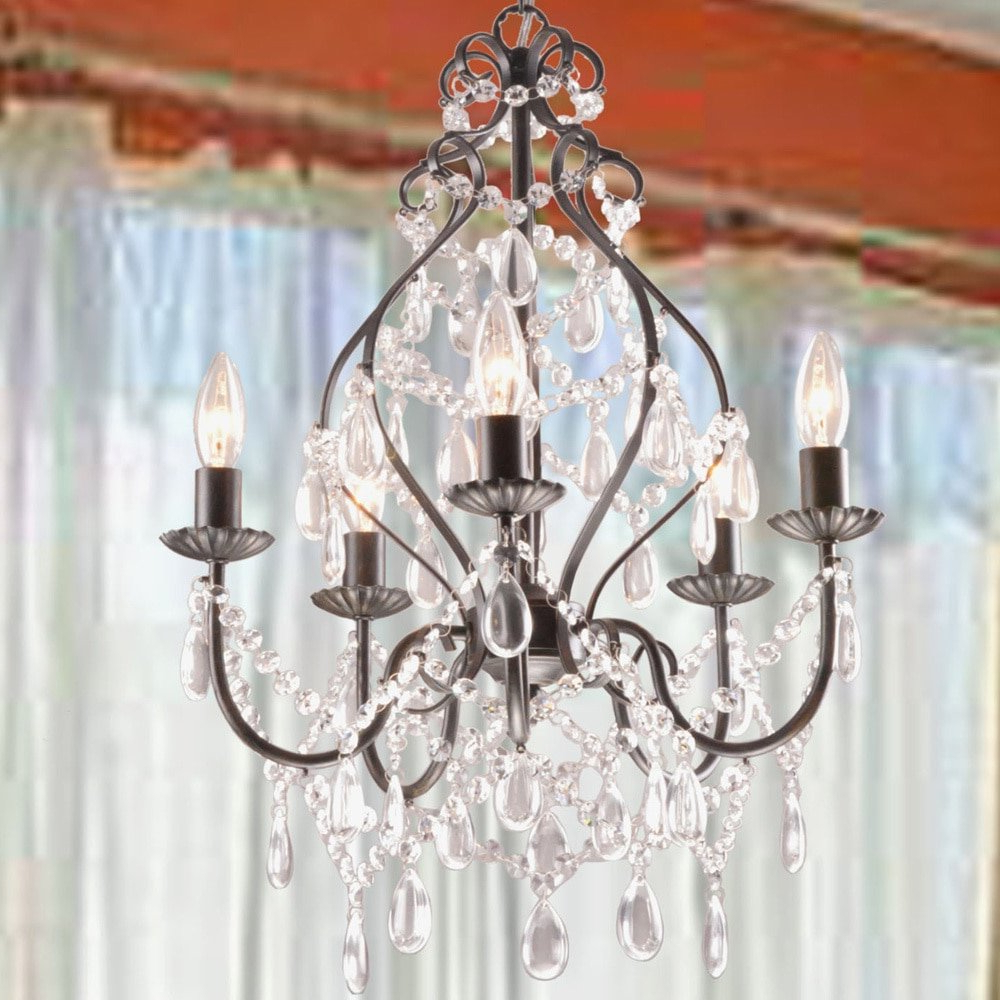 Wilkerson 5 Light Chandelier For Well Known Hesse 5 Light Candle Style Chandeliers (View 9 of 25)