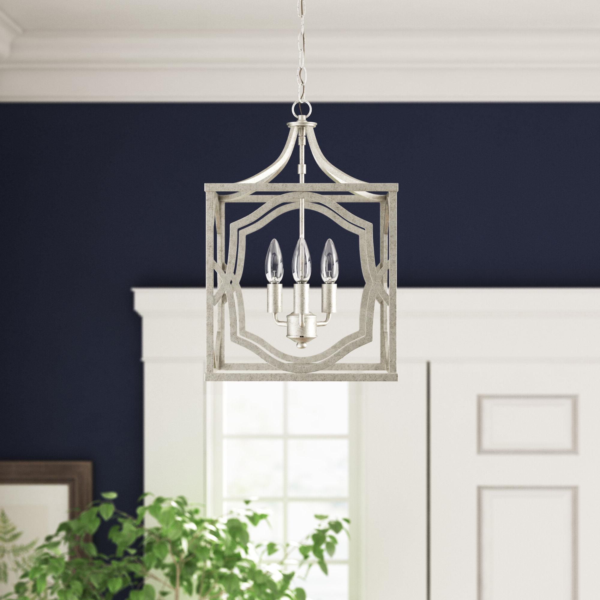 Willa Arlo Interiors Destrey 3 Light Lantern Square/rectangle Pendant For Preferred Freeburg 4 Light Lantern Square / Rectangle Pendants (View 13 of 25)