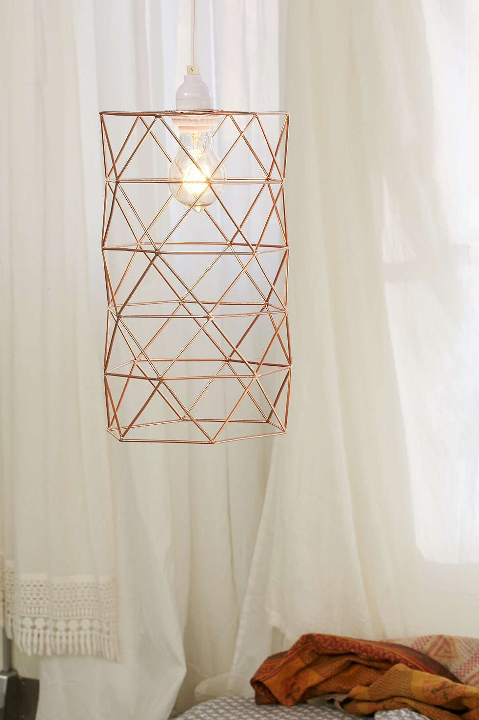 Wire Pendant, Cage Pendant Light Within Akash Industrial Vintage 1 Light Geometric Pendants (View 21 of 25)