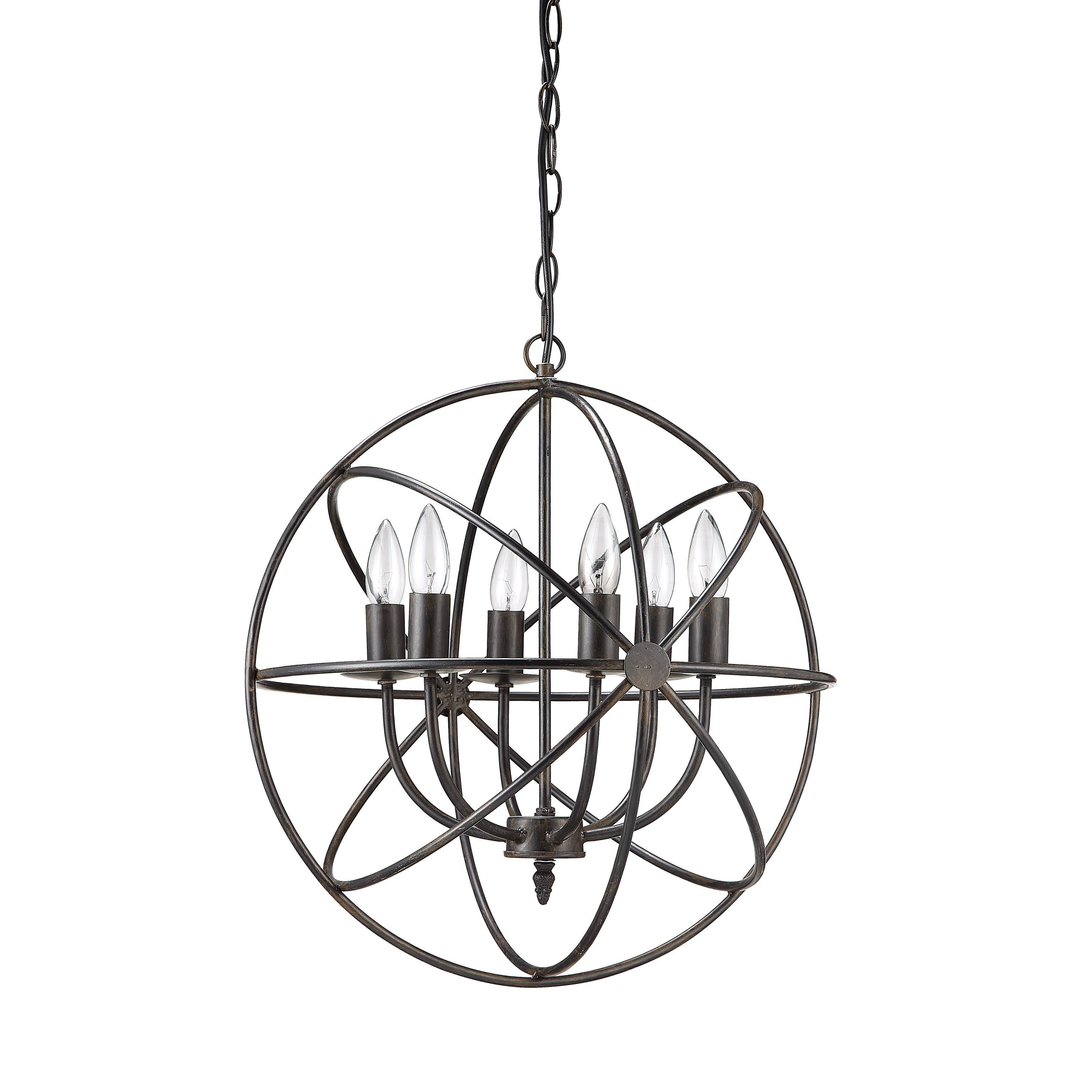 Woodland With Regard To Gregoire 6 Light Globe Chandeliers (View 25 of 25)