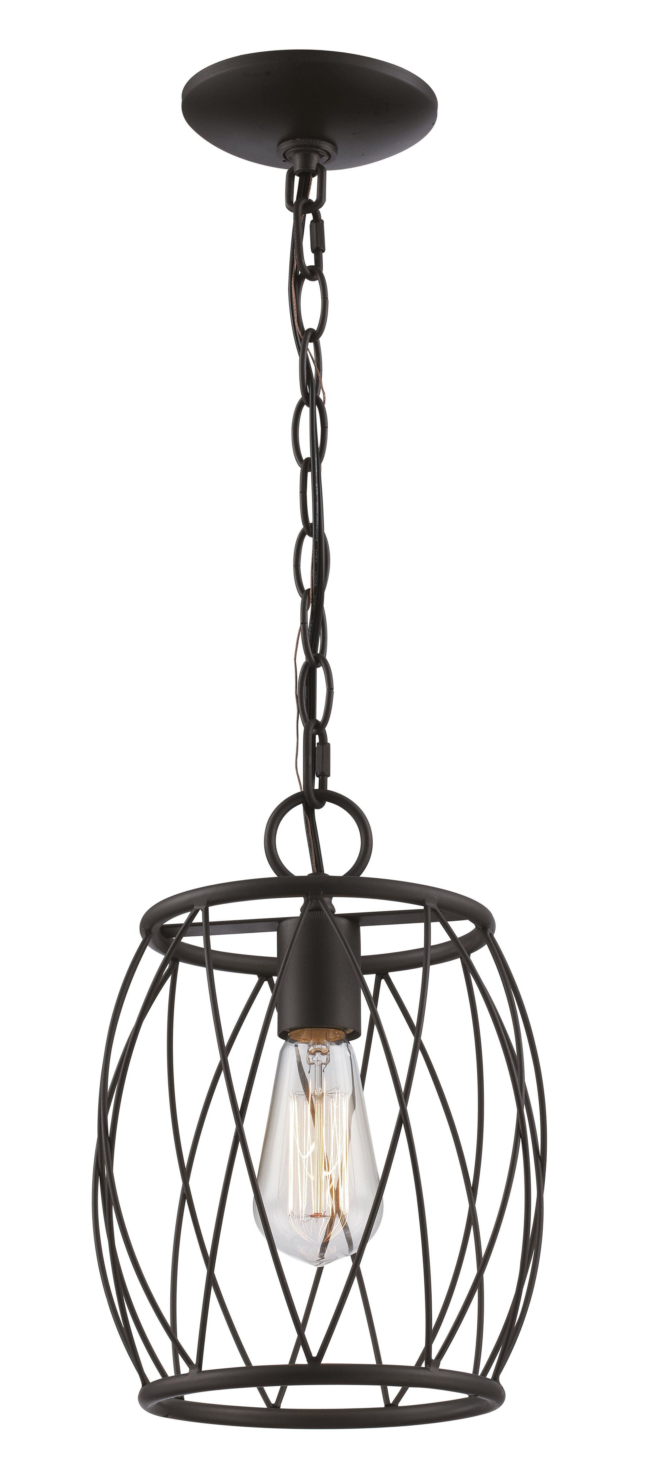 Wrought Studio Poynter 1 Light Single Cylinder Pendant Pertaining To Preferred Irwin 1 Light Single Globe Pendants (View 25 of 25)