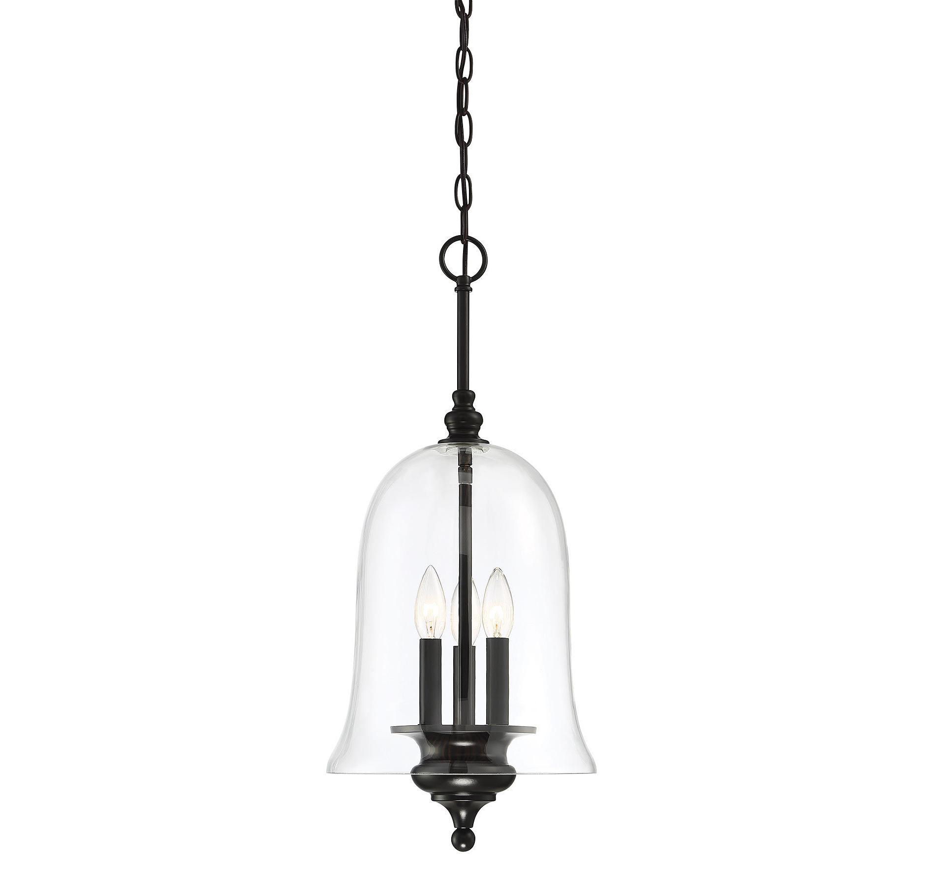 Yarger 1-Light Single Bell Pendants pertaining to Newest Youngberg 3-Light Single Bell Pendant