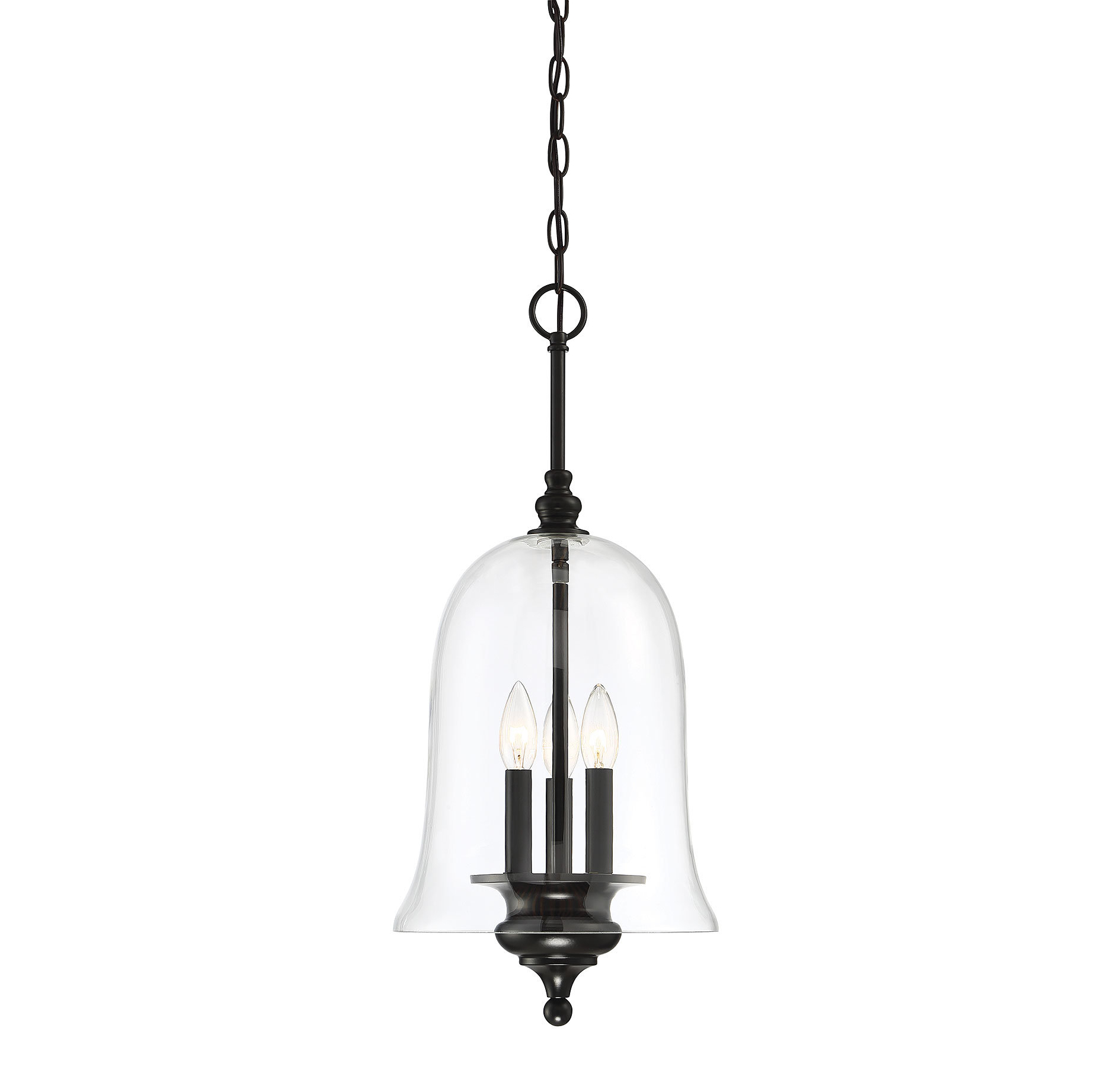 Youngberg 3-Light Single Bell Pendant intended for Famous Kierra 4-Light Unique / Statement Chandeliers