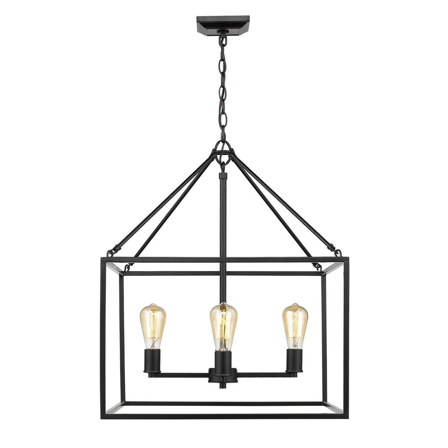 Zabel 4 Light Lantern Square / Rectangle Pendant Throughout Most Up To Date Sherri Ann 3 Light Lantern Square / Rectangle Pendants (View 9 of 25)