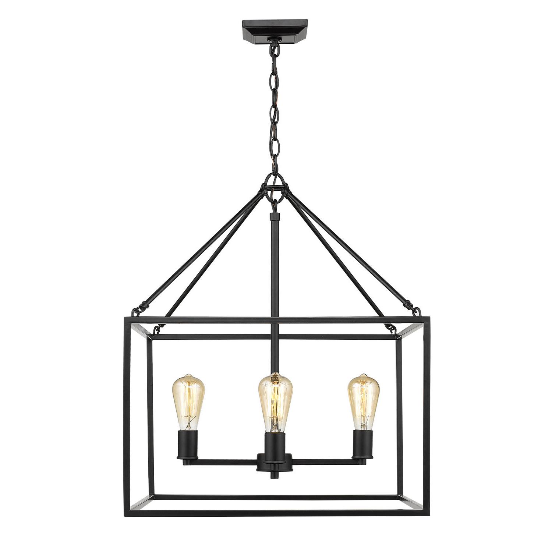 Zabel 4 Light Lantern Square / Rectangle Pendant Throughout Most Up To Date Sherri Ann 3 Light Lantern Square / Rectangle Pendants (View 25 of 25)