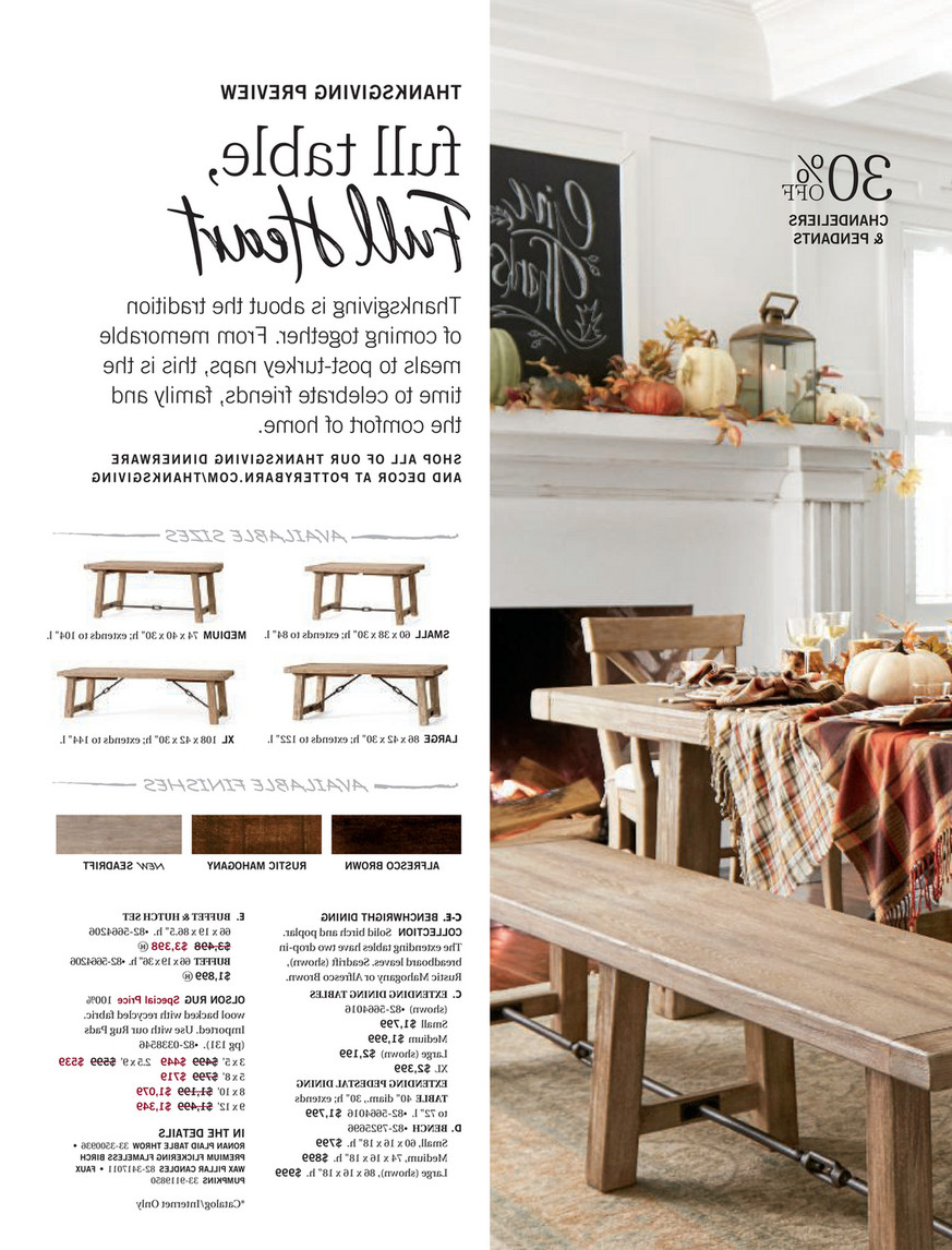 2019 Alfresco Brown Benchwright Extending Dining Tables Inside Pottery Barn – Fall 2017 D3 – Benchwright Extending Dining (View 6 of 25)