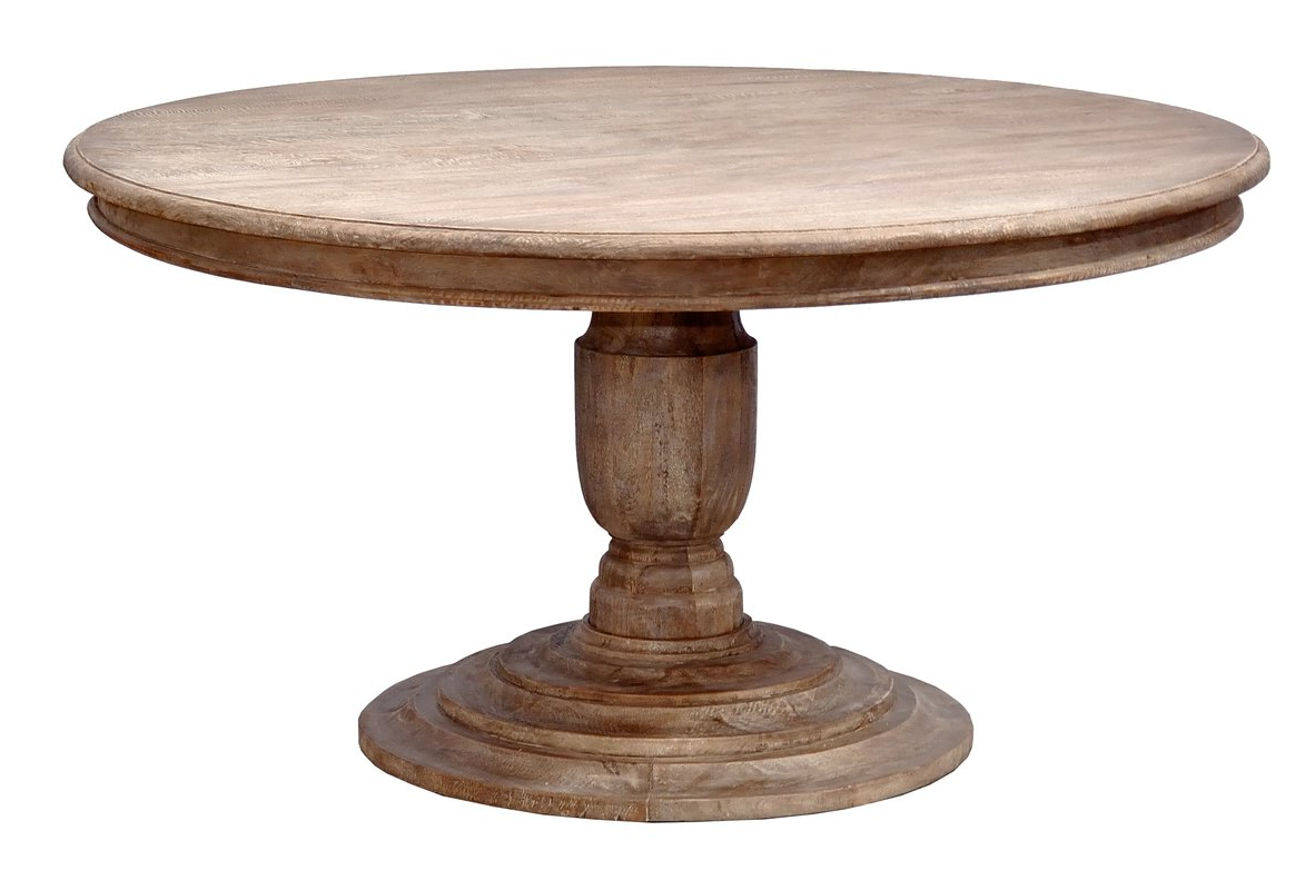 2019 Alfresco Brown Benchwright Pedestal Extending Dining Tables in Modern Comtemporary Pedestal Dining Room Table - Home Decor
