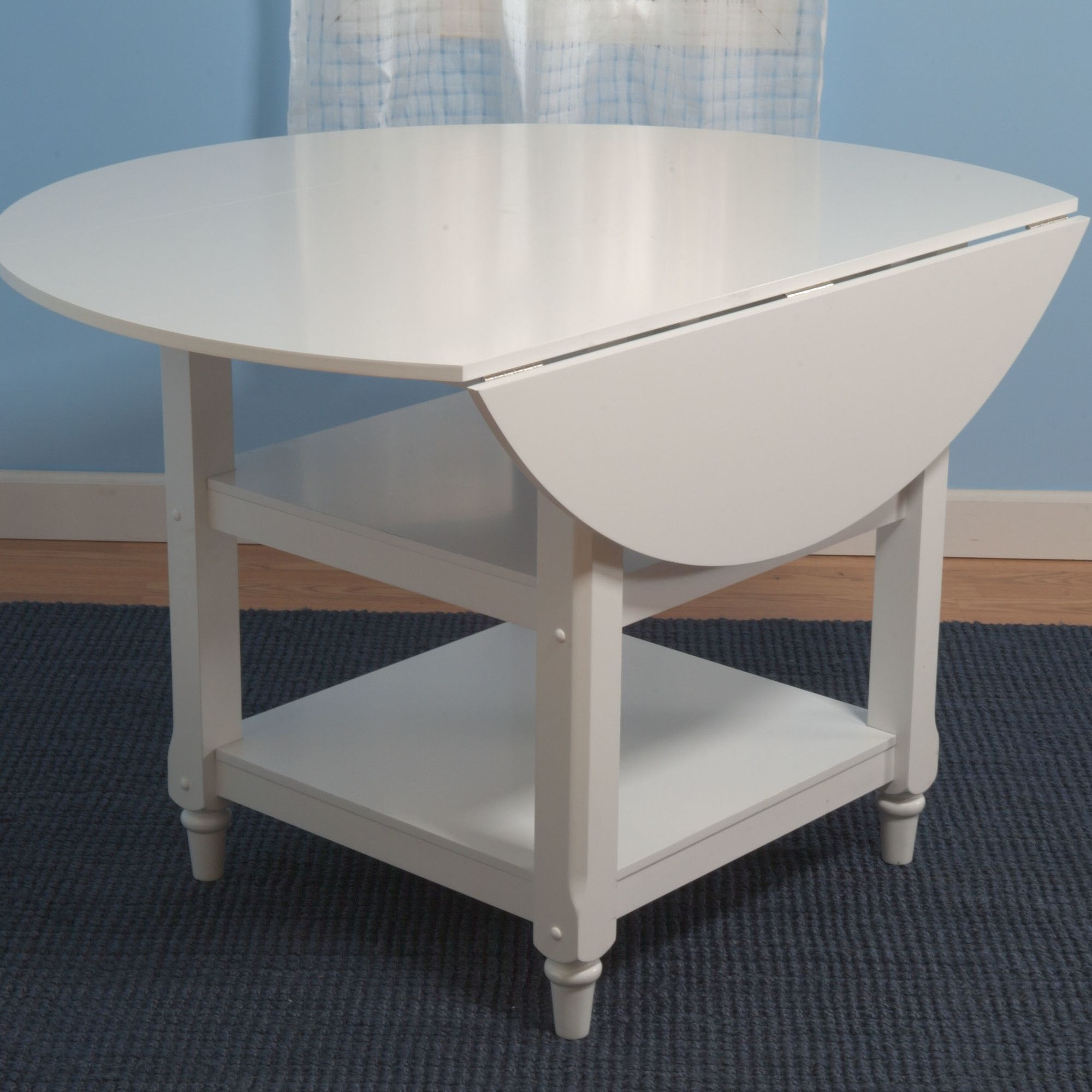 2019 Antique White Shayne Drop Leaf Kitchen Tables Inside Bristol Point Drop Leaf Dining Table In  (View 4 of 25)