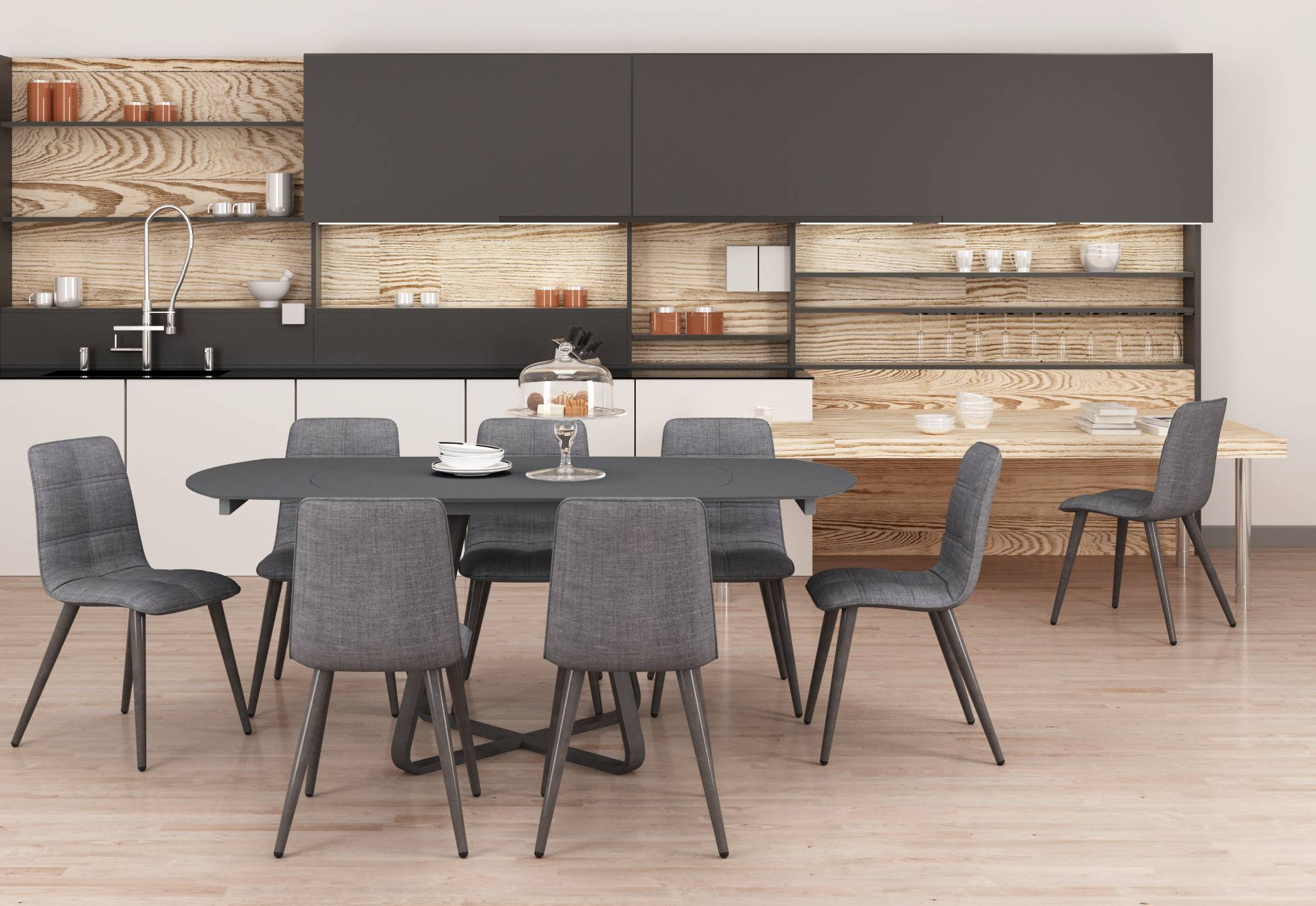 2019 Esprit Extending Dining Table pertaining to Black Wash Banks Extending Dining Tables