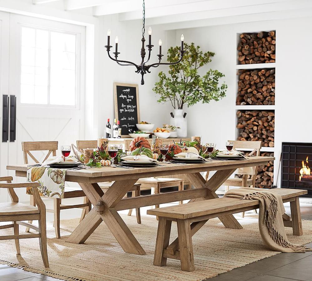 2019 Toscana Extending Dining Table, Medium, Seadrift At Pottery for Tuscan Chestnut Toscana Pedestal Extending Dining Tables