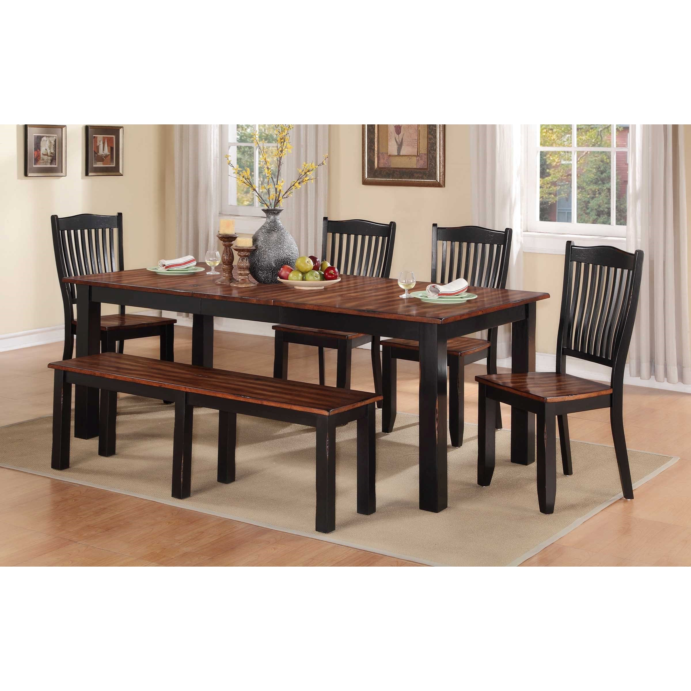 2020 Carson Counter Height Tables for Carson 6 Piece Dining Set With Bench