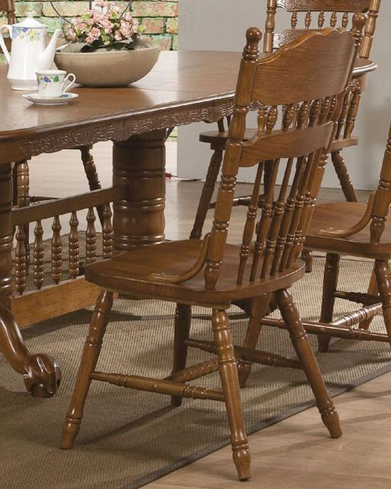 2020 Coaster Side Chair W/ Turned Spindles Brooks Co-104272 (Set inside Brooks Dining Tables