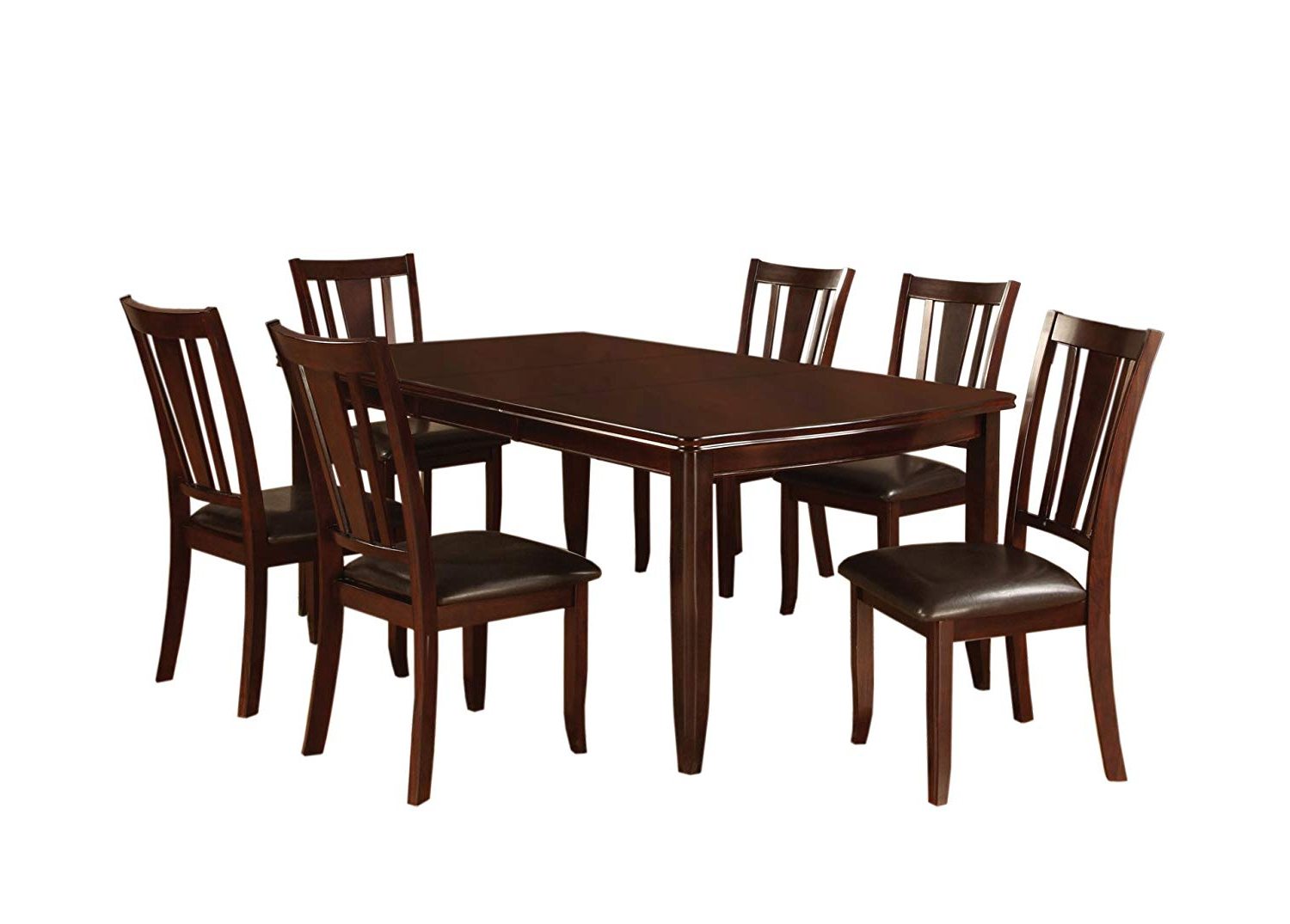2020 Furniture Of America Anlow 7-Piece Dining Table Set With 18-Inch Expandable  Leaf, Espresso regarding Rustic Brown Lorraine Extending Dining Tables