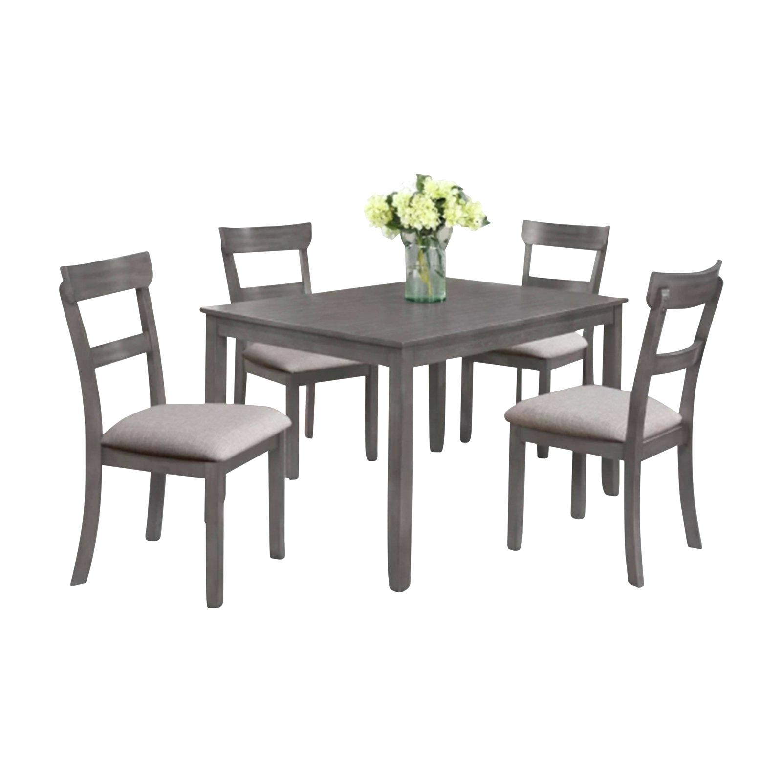 2020 Gray Wash Banks Extending Dining Tables regarding White And Gray Dining Table – Insidestories