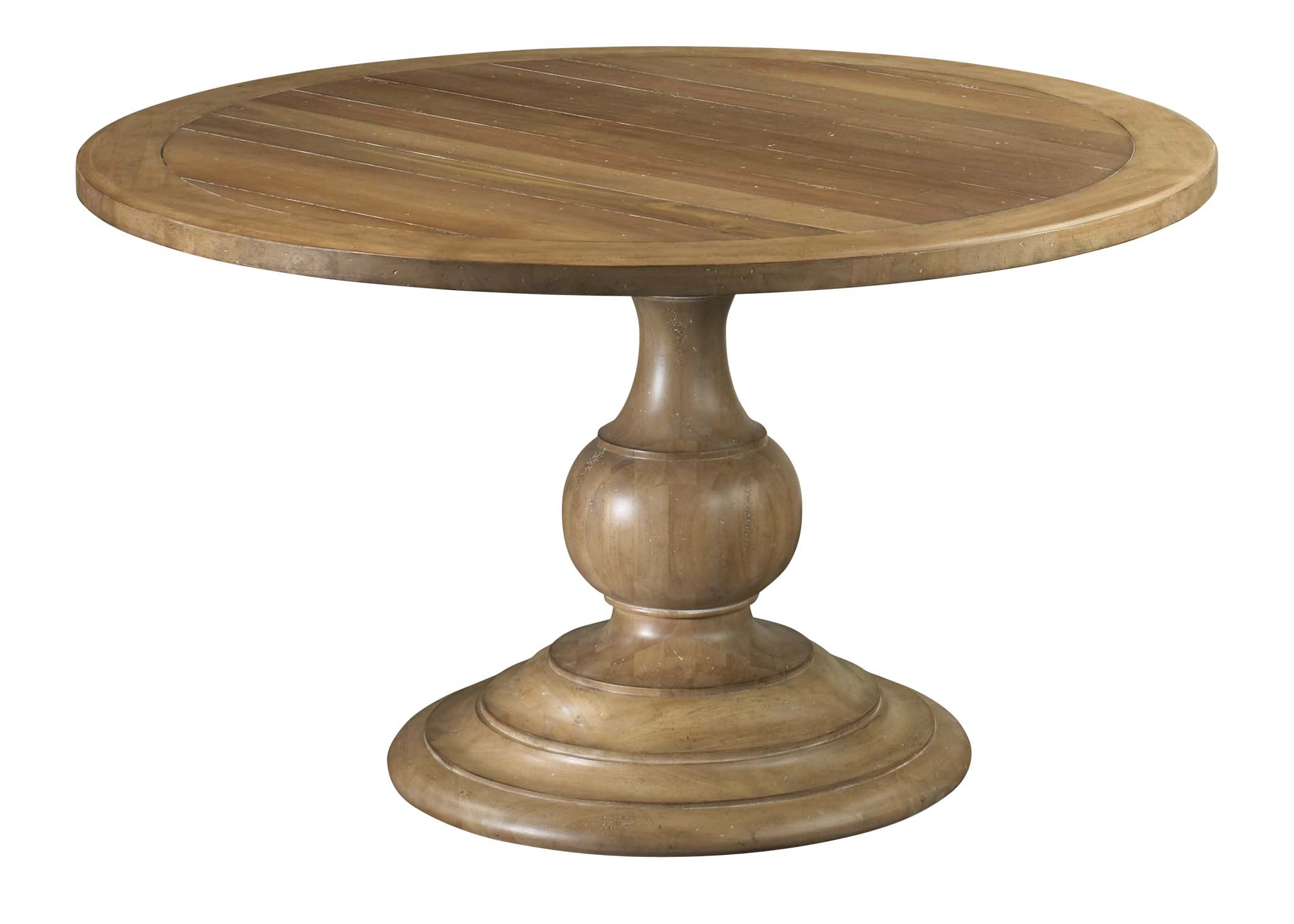 2020 Hewn Oak Lorraine Pedestal Extending Dining Tables Regarding 48 Round Pedestal Dining Table For Small Dining Room Spaces (View 9 of 25)