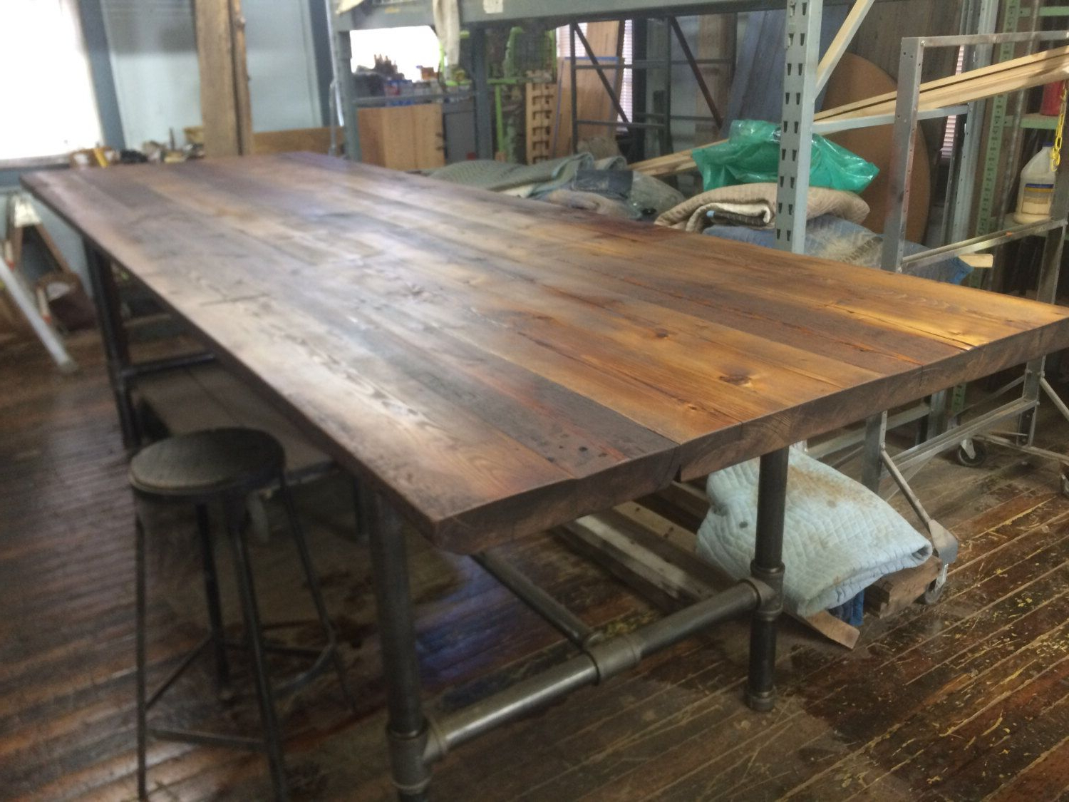 2020 Pin On Park Place in Griffin Reclaimed Wood Bar-Height Tables