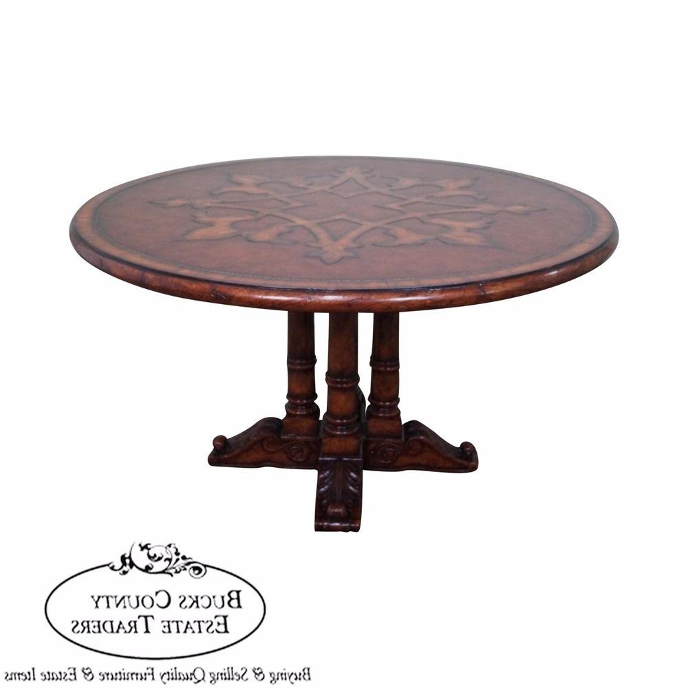 2020 Weathered Gray Owen Pedestal Extending Dining Tables inside Pedestal Dining Tables. Three Drawer Under Desk 600Mm. Black