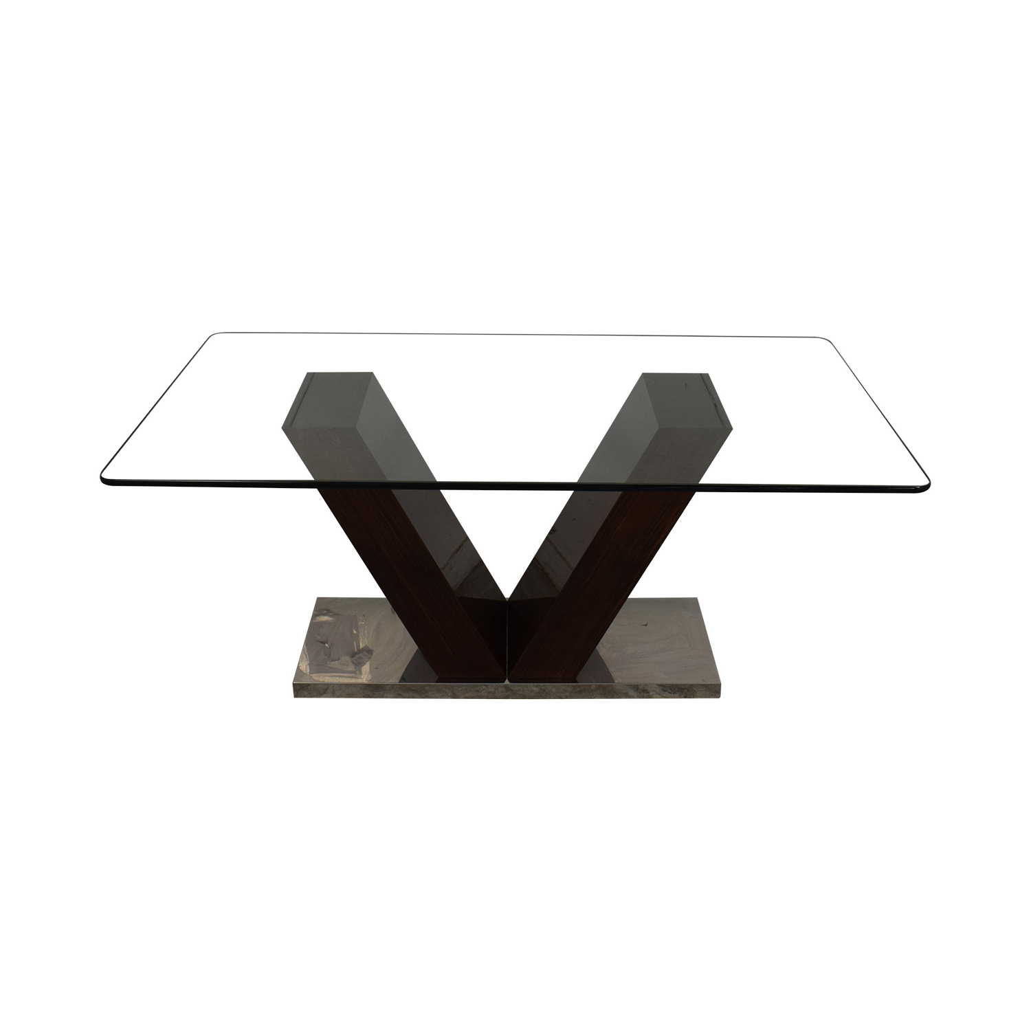 [%88% Off – V Shaped Base Glass Dining Table / Tables Intended For Famous Salvaged Black Shayne Drop Leaf Kitchen Tables|Salvaged Black Shayne Drop Leaf Kitchen Tables Intended For Current 88% Off – V Shaped Base Glass Dining Table / Tables|Fashionable Salvaged Black Shayne Drop Leaf Kitchen Tables Intended For 88% Off – V Shaped Base Glass Dining Table / Tables|Popular 88% Off – V Shaped Base Glass Dining Table / Tables Pertaining To Salvaged Black Shayne Drop Leaf Kitchen Tables%] (View 23 of 25)