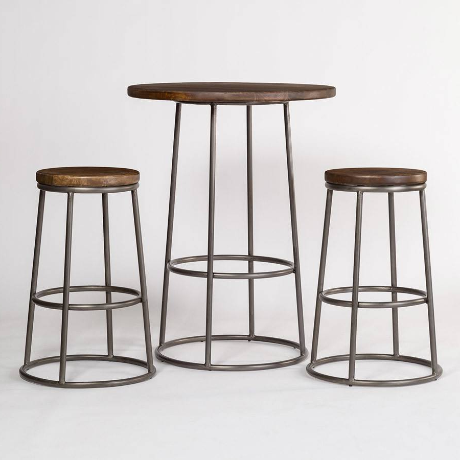 Alder Pub Tables With Regard To Most Up To Date Pub Table W/ 2 Bar Stools (View 12 of 25)