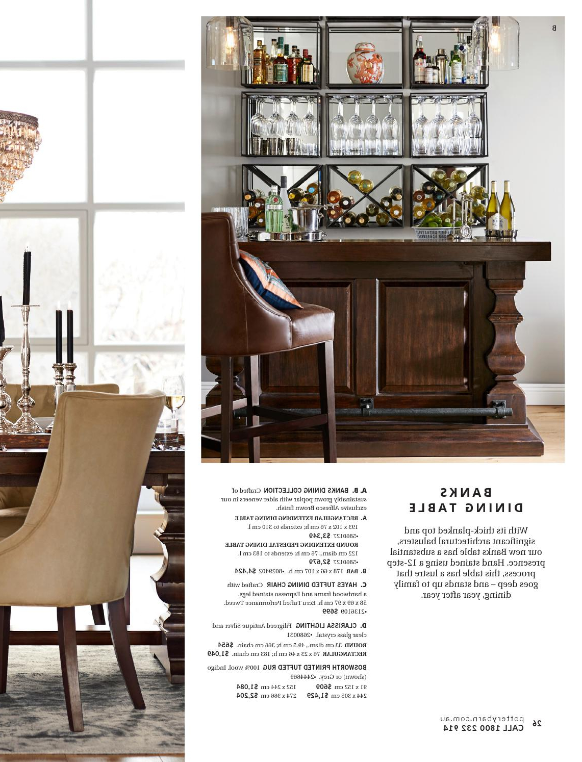 Alfresco Brown Banks Extending Dining Tables Intended For Most Up To Date Pottery Barn Australia (View 10 of 25)