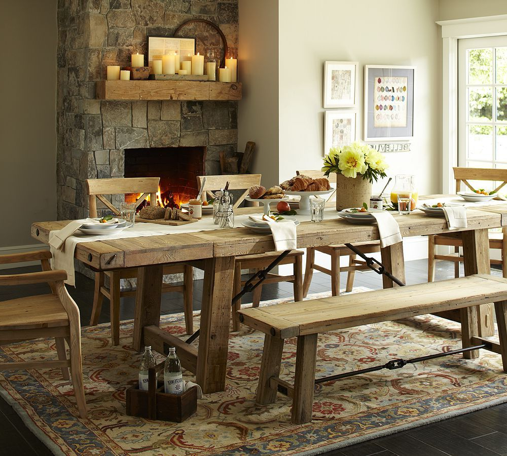 Featured Photo of Alfresco Brown Benchwright Extending Dining Tables