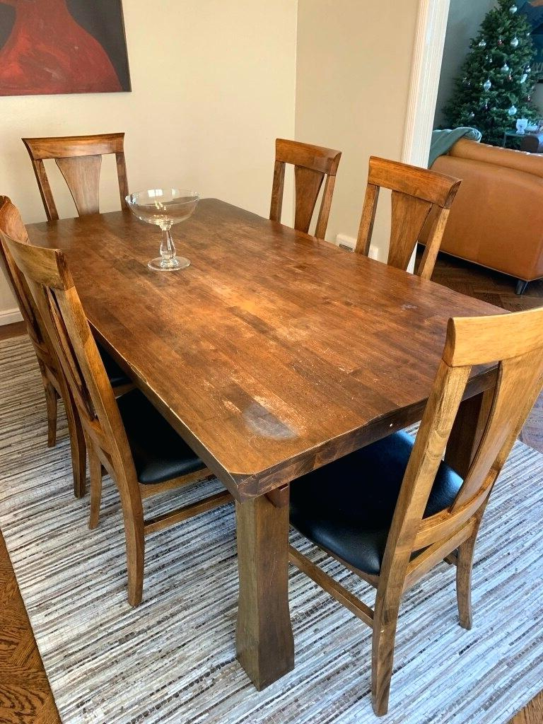 Alfresco Brown Benchwright Extending Dining Tables Regarding Most Popular Potterybarn Dining Table – Teencuentro (View 23 of 25)