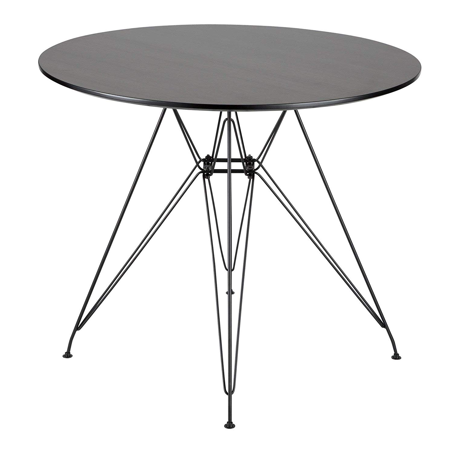 Amazon – Avery Round Dining Table In Black And Walnut With Well Known Avery Rectangular Dining Tables (View 12 of 25)