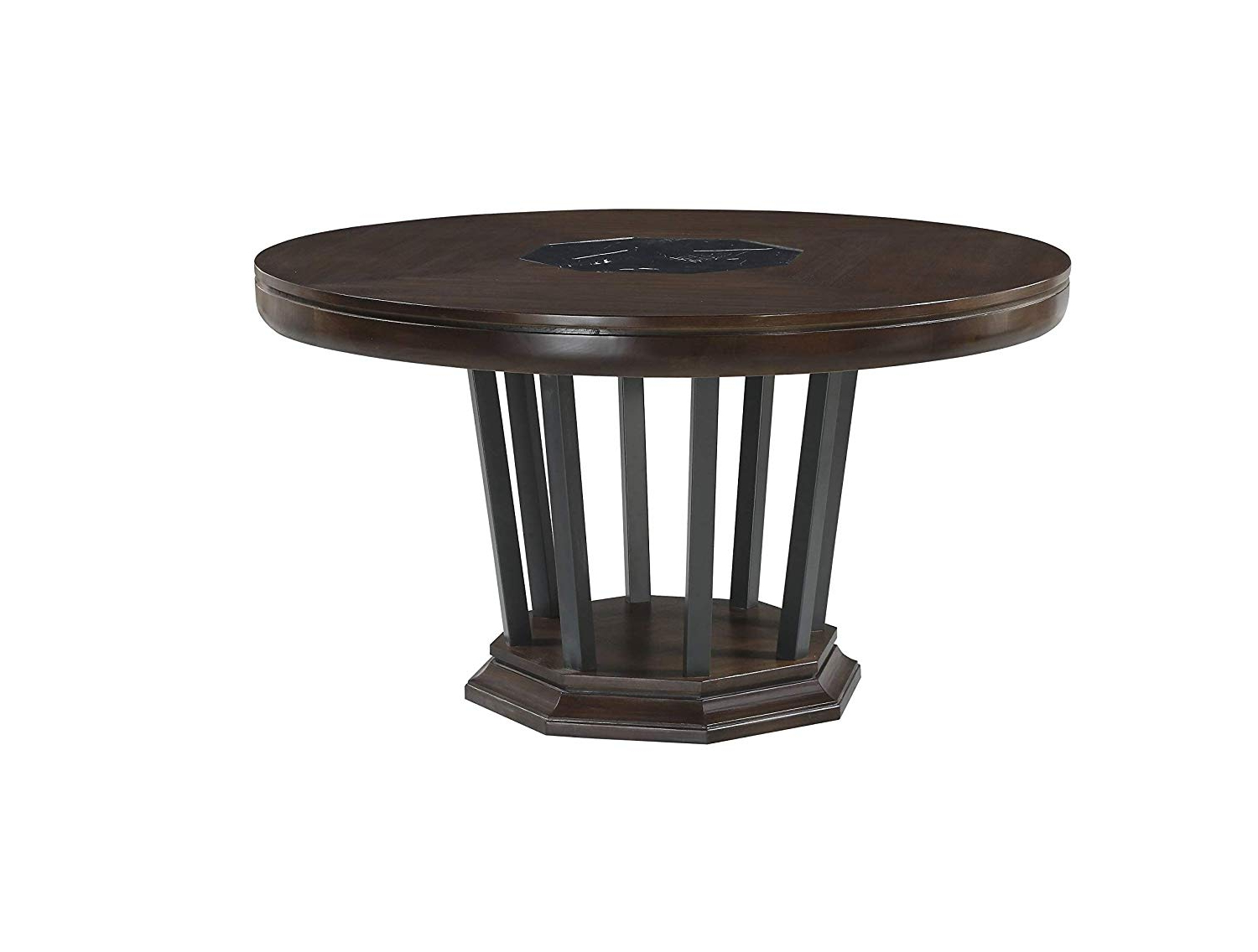 """Amazon – Major Q 54"""" Dia Classic Traditional Style In Best And Newest Alexandra Round Marble Pedestal Dining Tables (View 23 of 25)"""